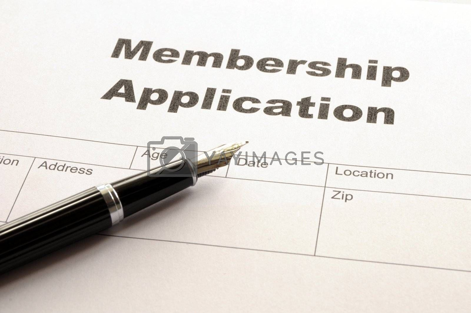 Royalty free image of membership application by gunnar3000