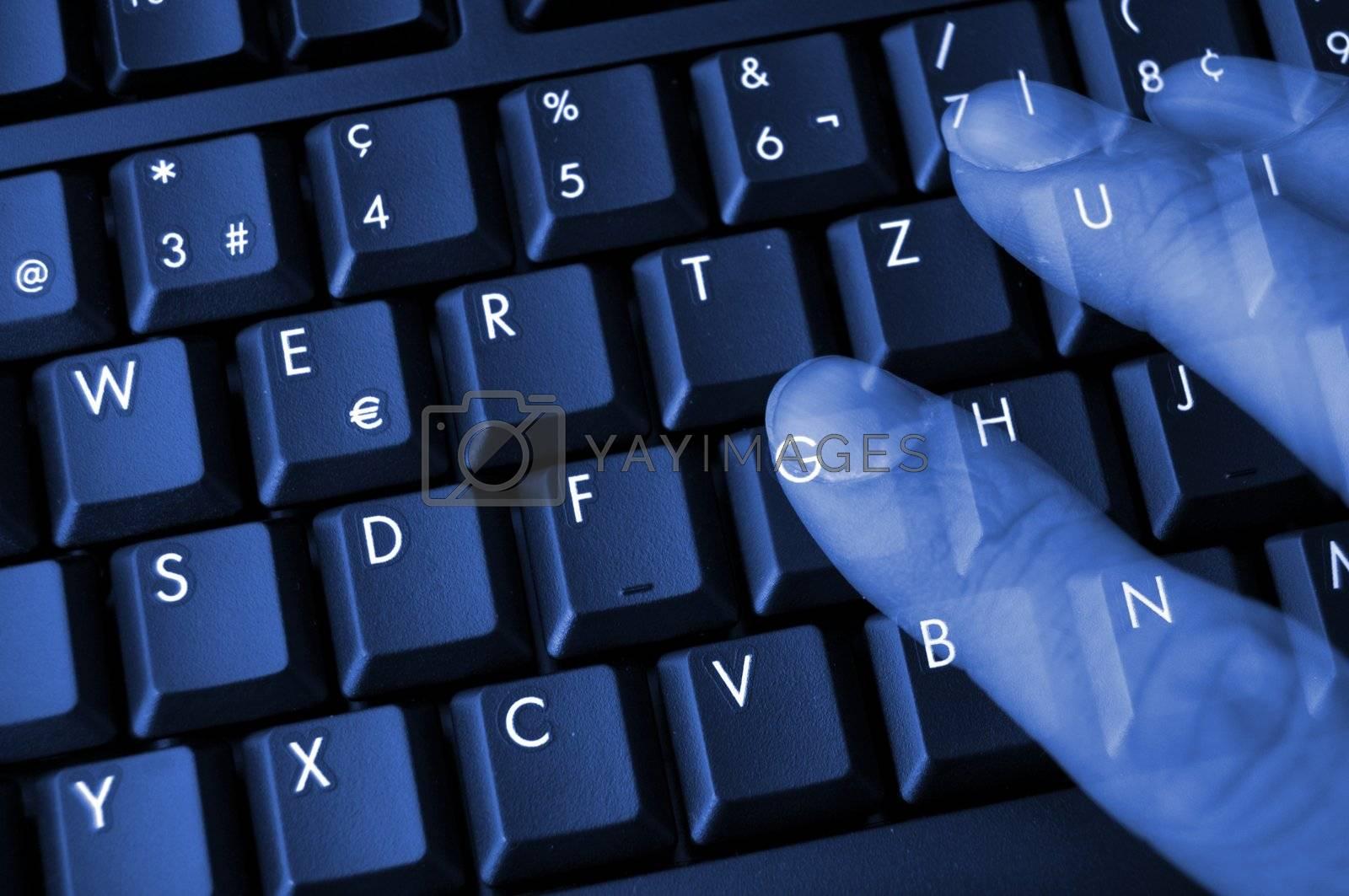 Royalty free image of keyboard by gunnar3000