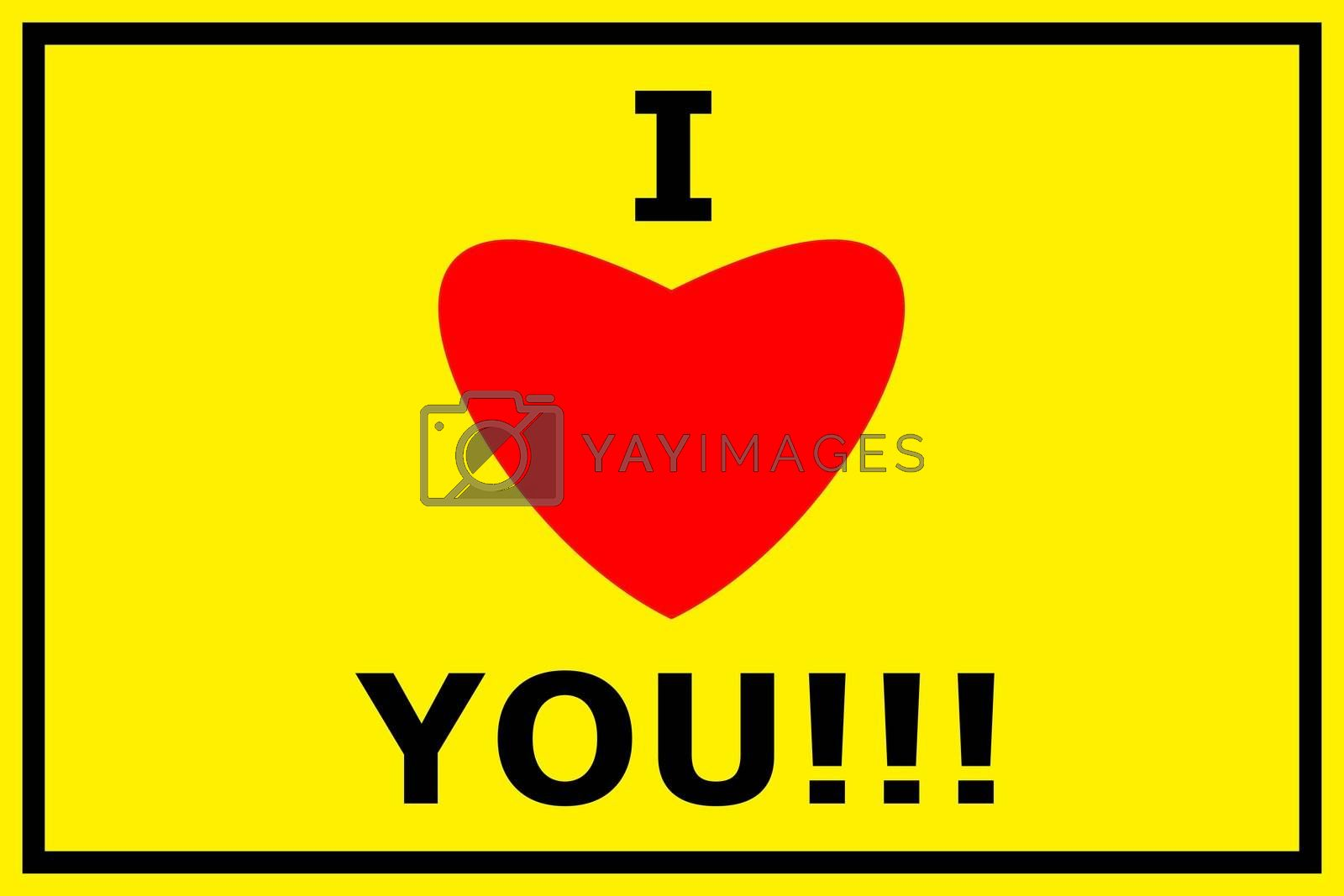 Royalty free image of i love you by gunnar3000