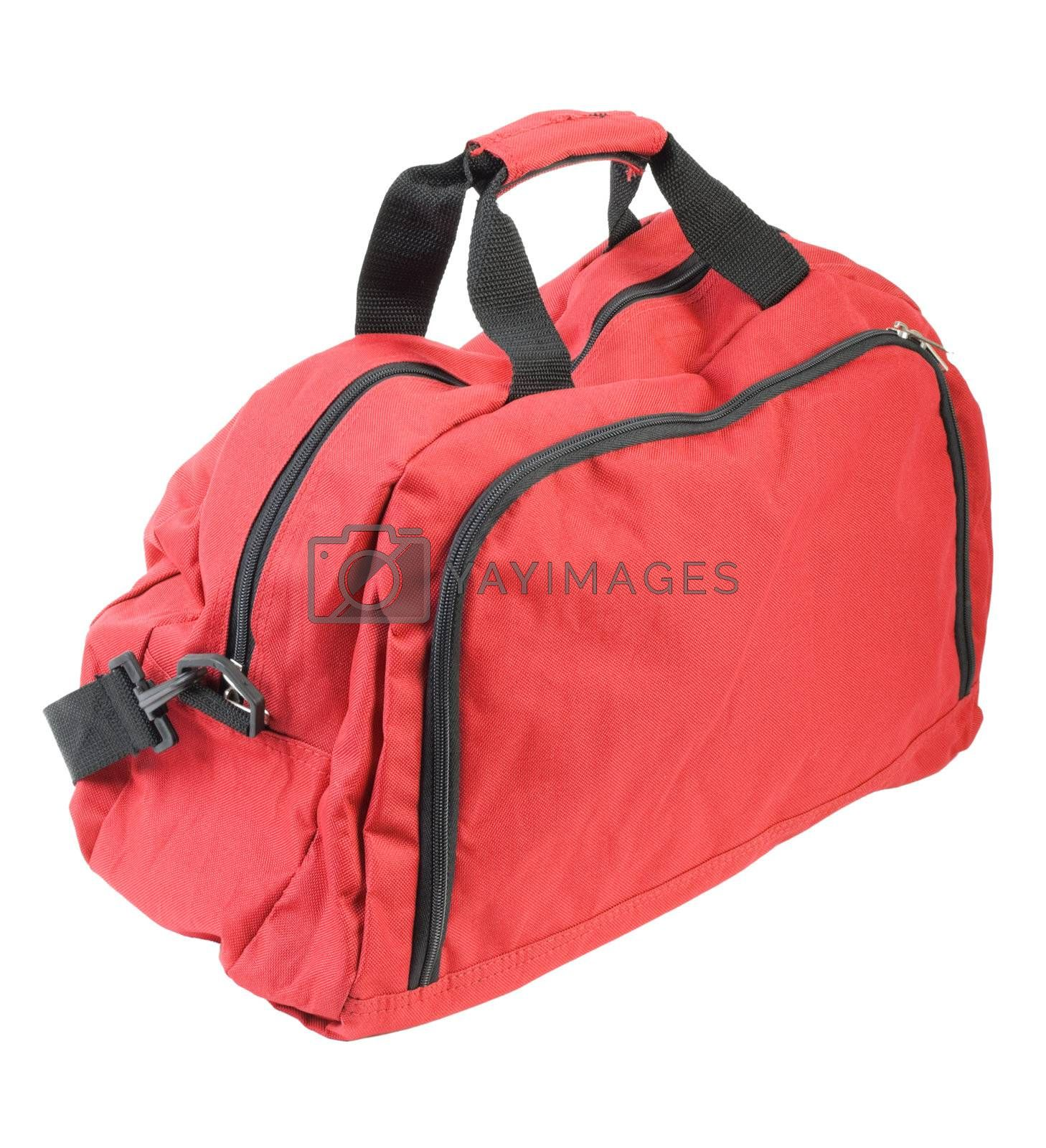 Royalty free image of Red luggage   Isolated by zakaz