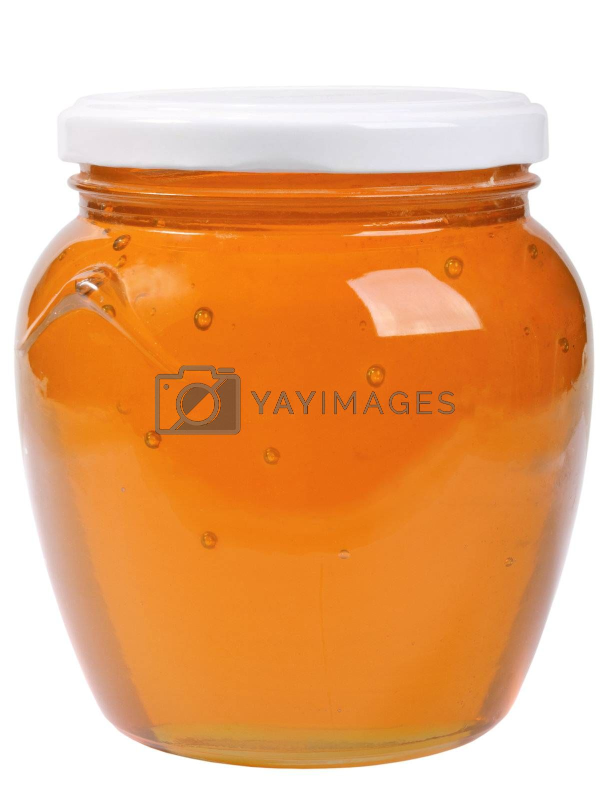 Royalty free image of The only closed glass jar with honey by boroda