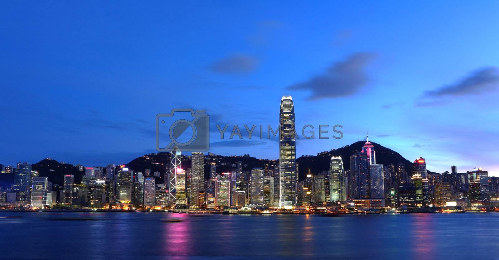 Royalty free image of Hong Kong City Skyline by leungchopan