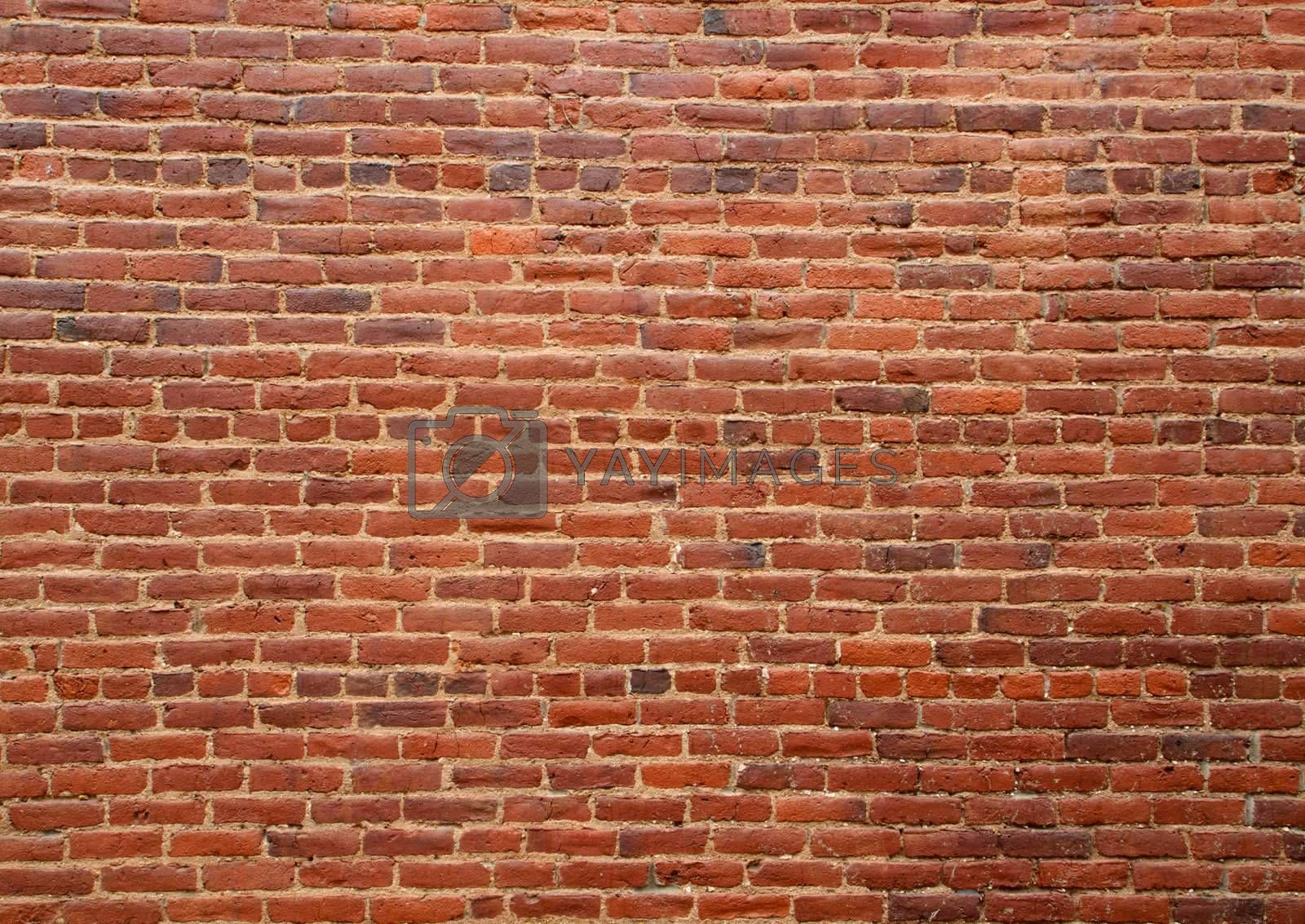 Royalty free image of Old red brick wall by bobkeenan