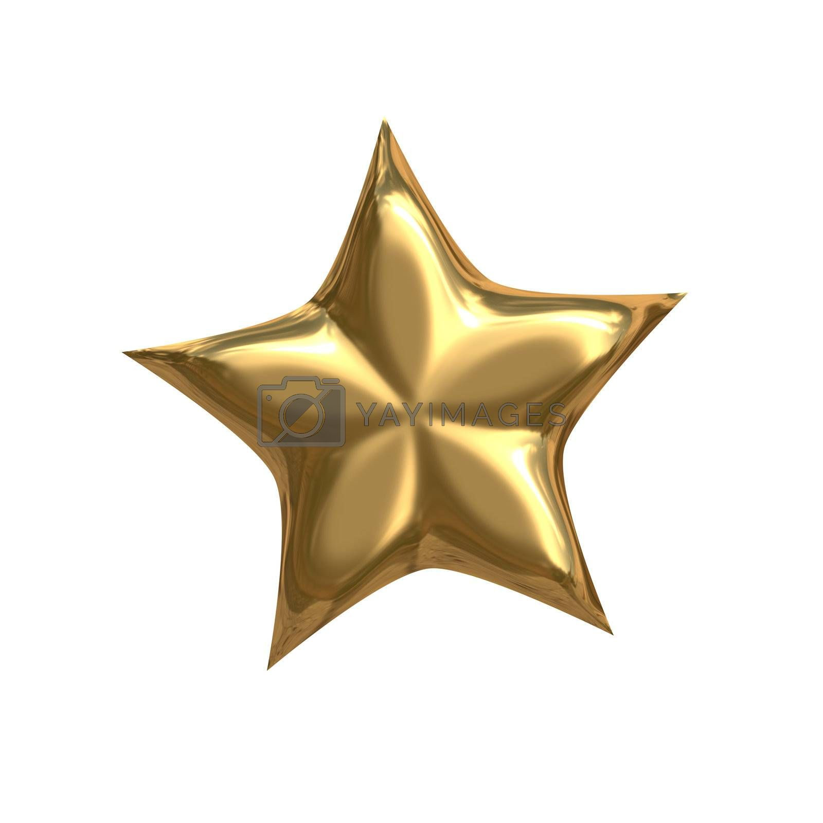 Royalty free image of golden star by magann