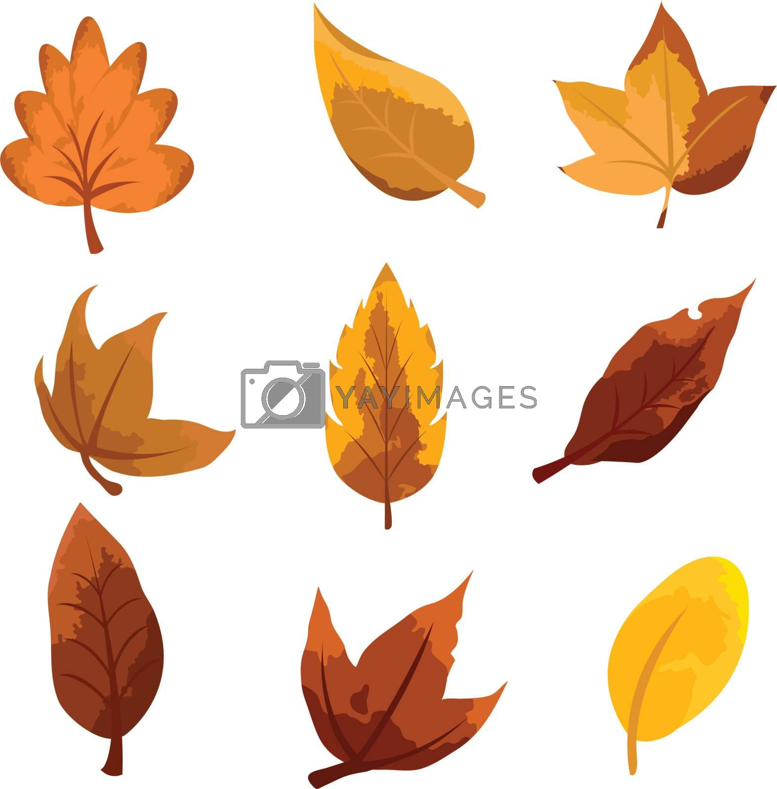 Royalty free image of autumn leaves background by glossygirl21