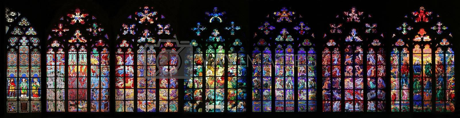 Royalty free image of St Vitus Stained Glass Window collection by LoonChild