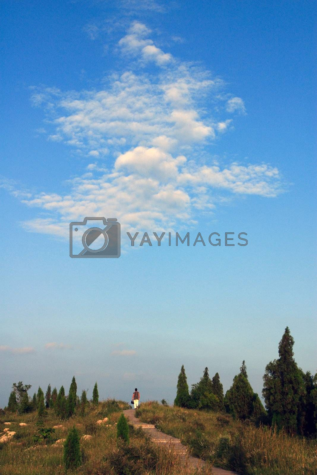 Royalty free image of  Scenery, mountain, sky, exercise, walk, nature,   by xps