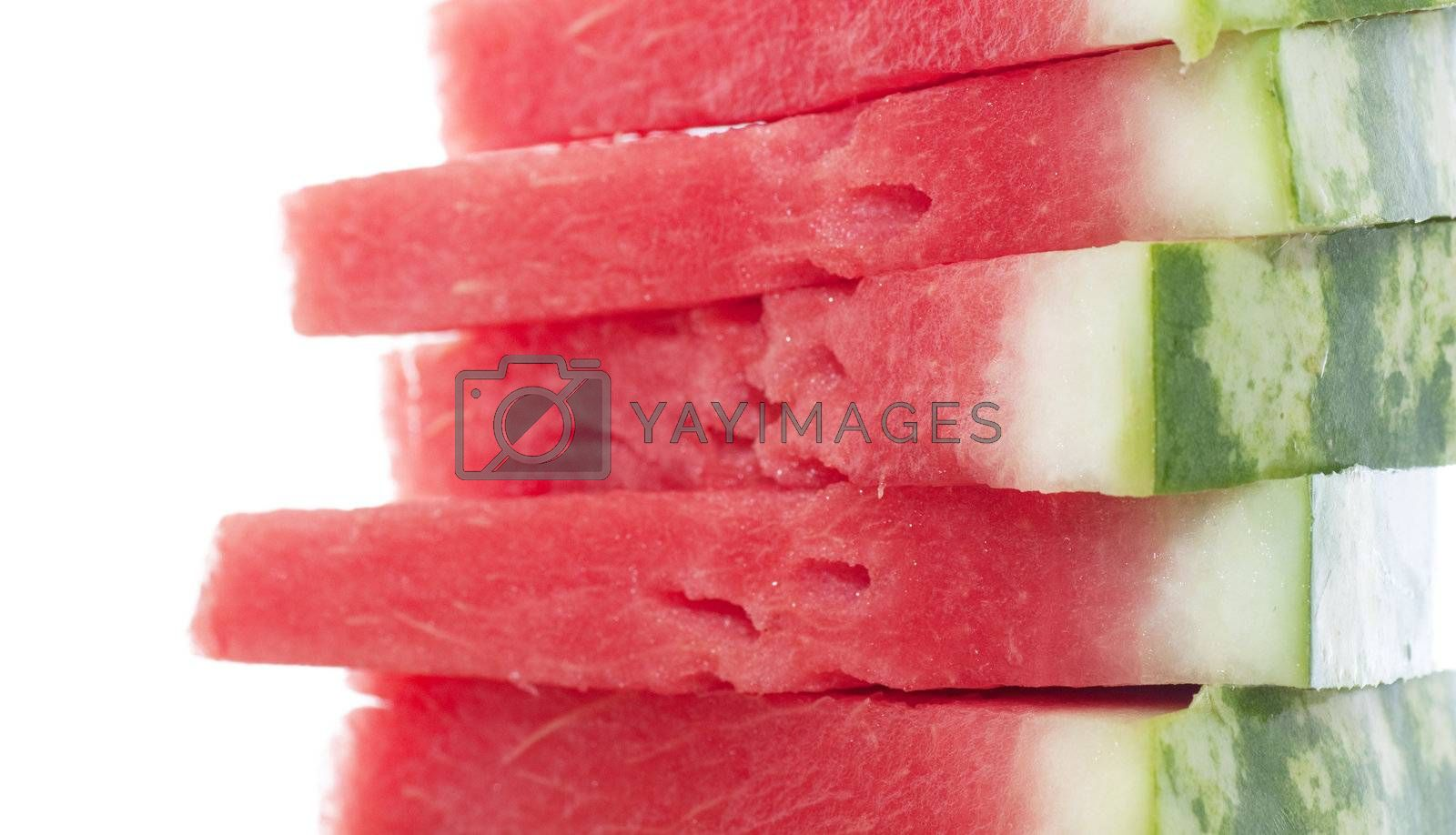 Royalty free image of Stack of fresh slices of watermelon by AGorohov