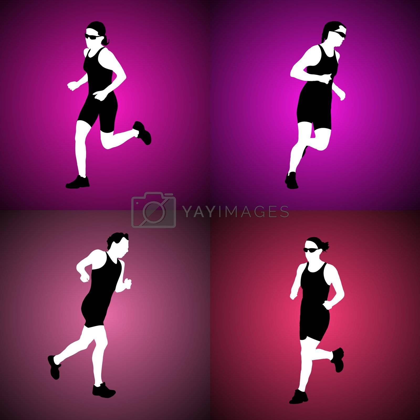 Royalty free image of Running women by homydesign