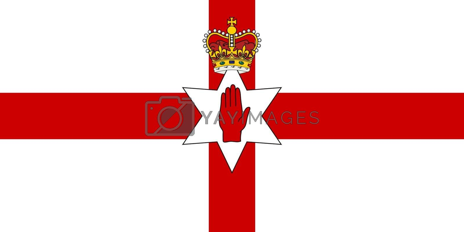 Royalty free image of Ulster flag by speedfighter