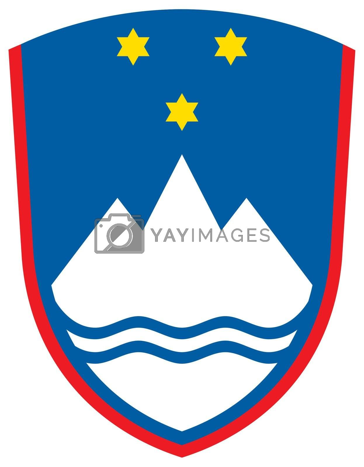 Royalty free image of Slovenia Coat of Arms by speedfighter