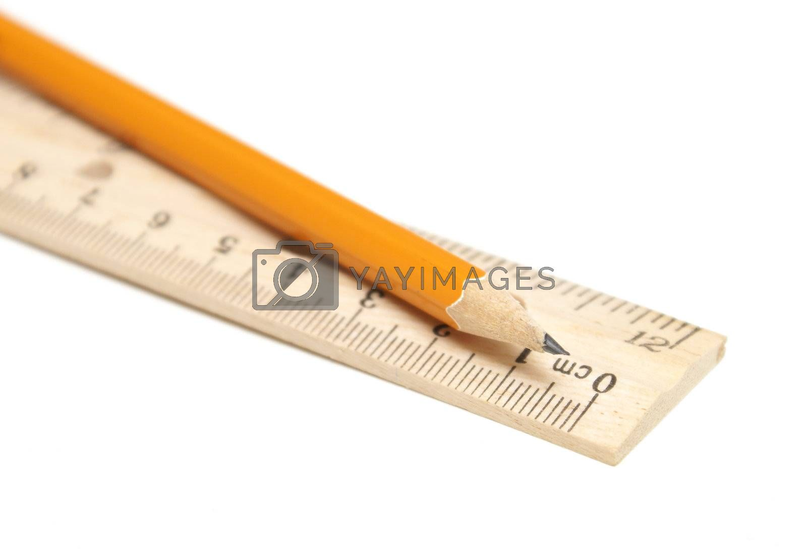 Royalty free image of Pencil and Ruler by AlphaBaby