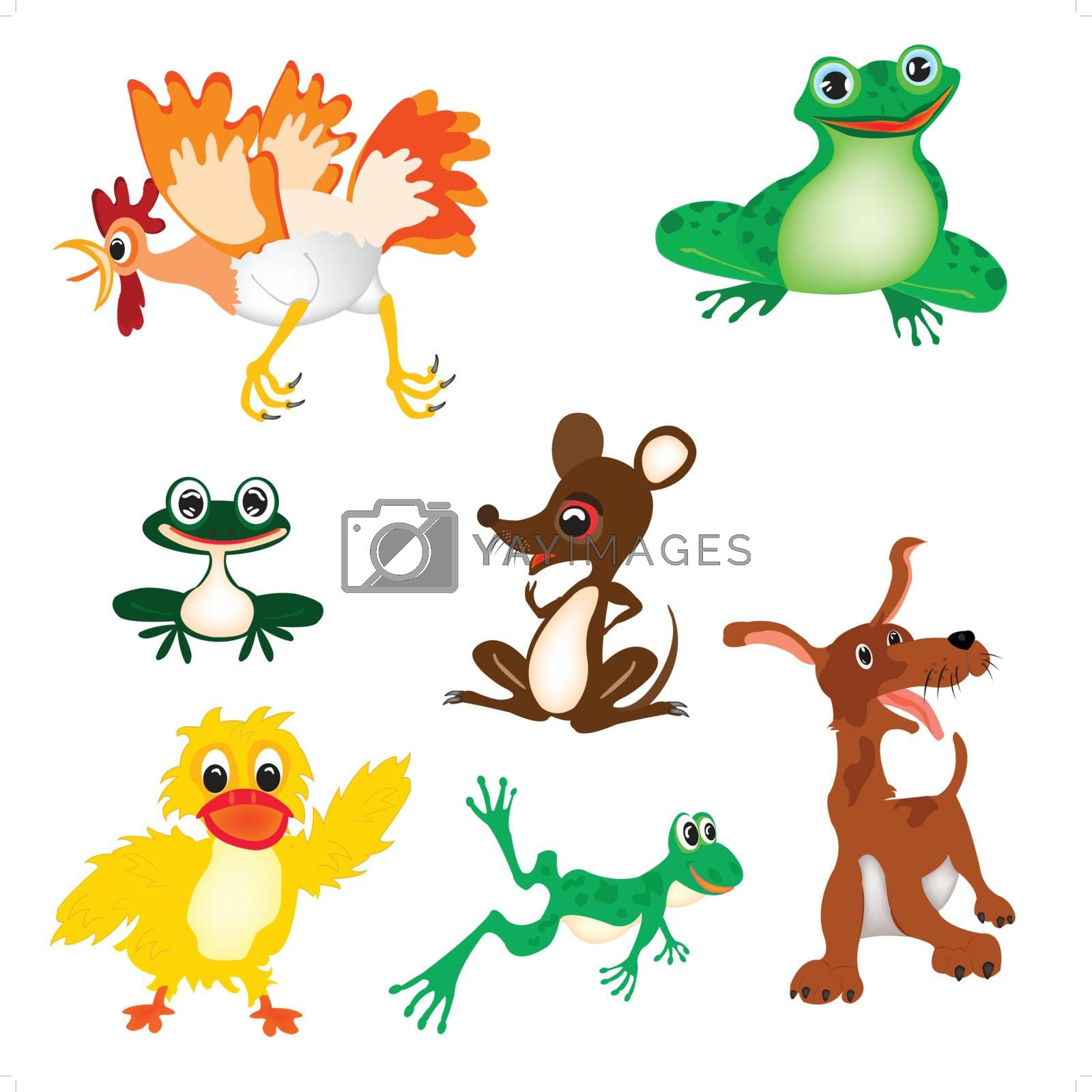 Vector illustration wild and pets