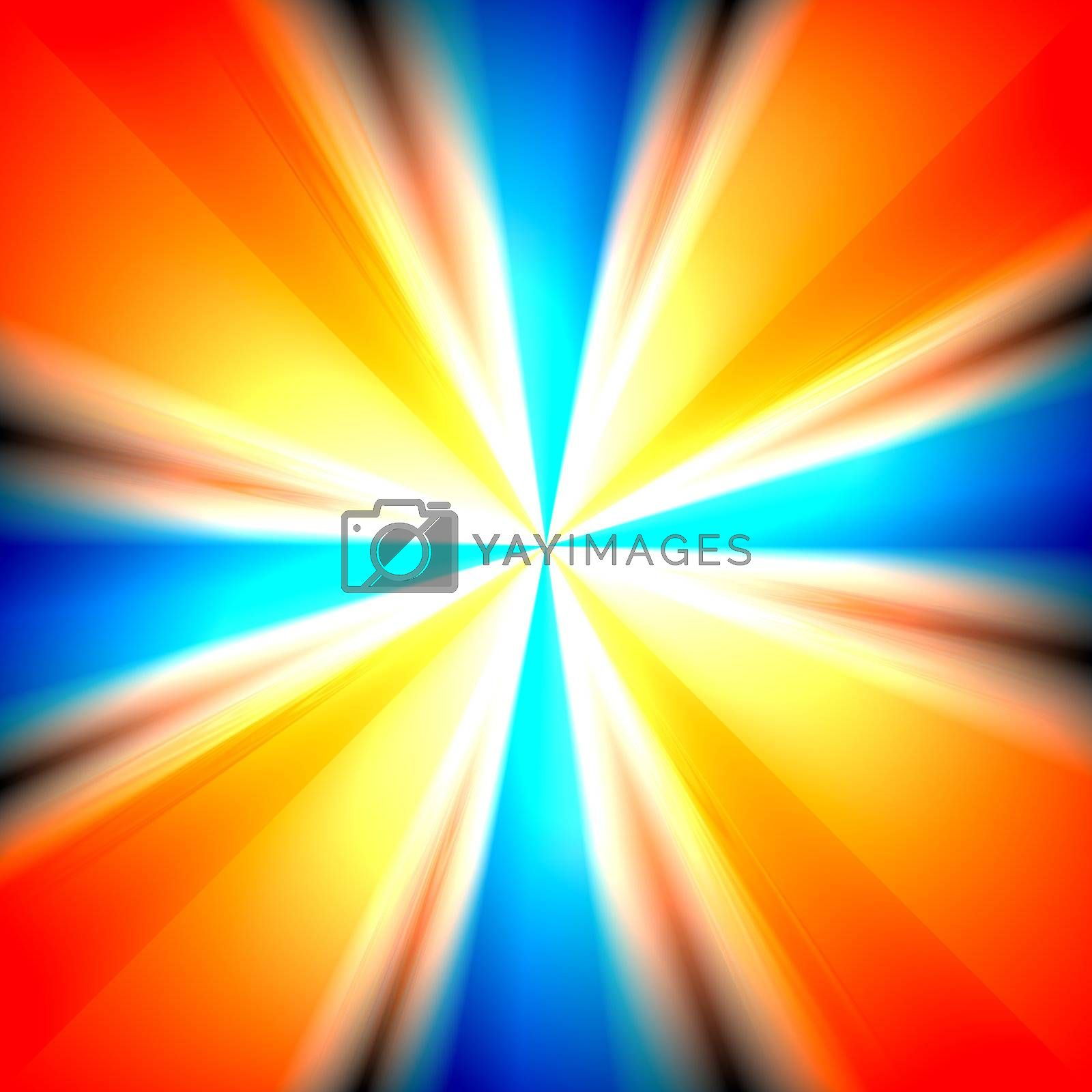 A colorful vortex background with a variety of colors.