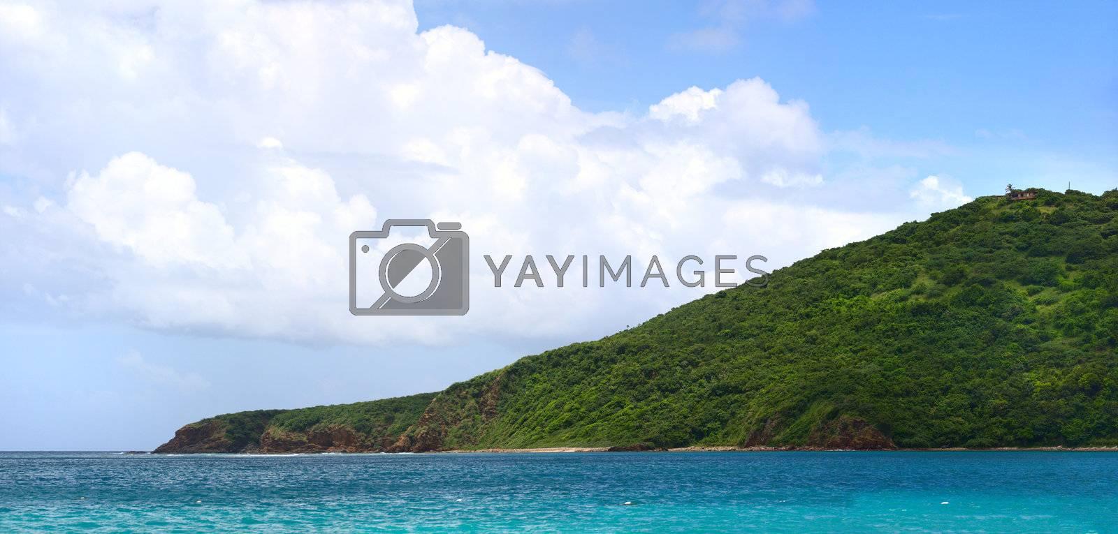 The far eastern shore across from Flamenco beach on the beautiful Puerto Rican island of Culebra.