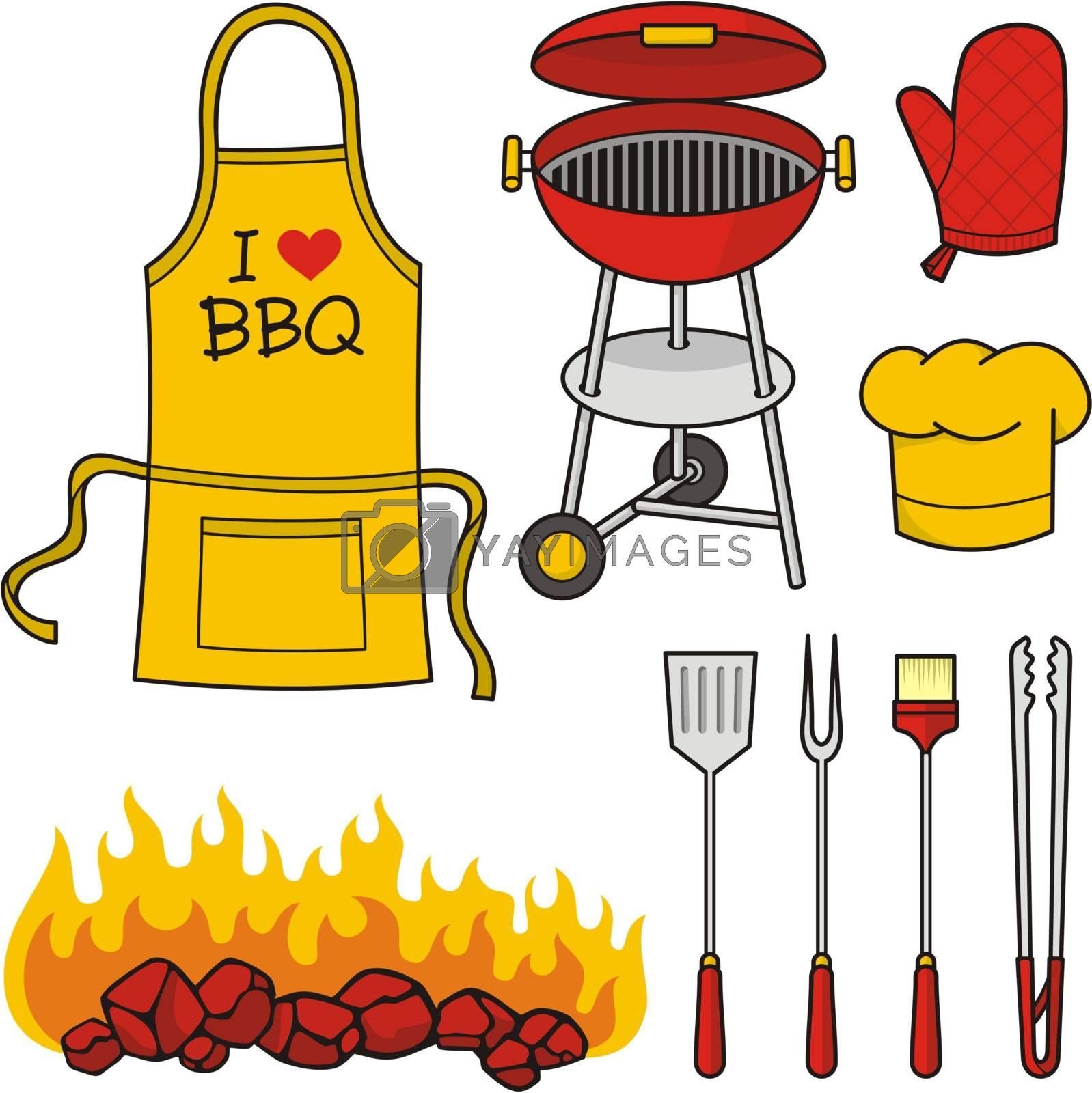 Barbeque icons by sifis