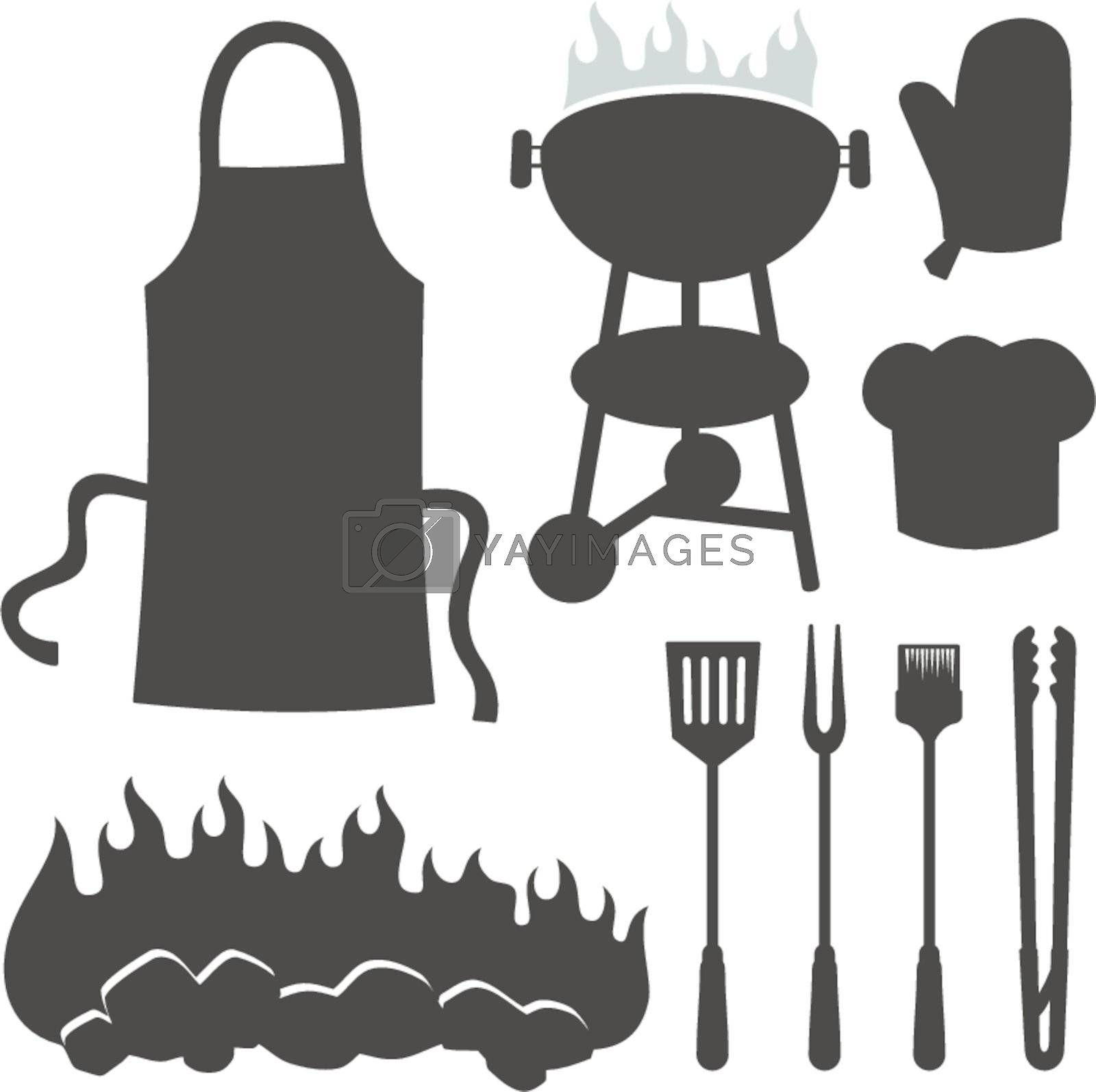 Barbeque silhouettes by sifis