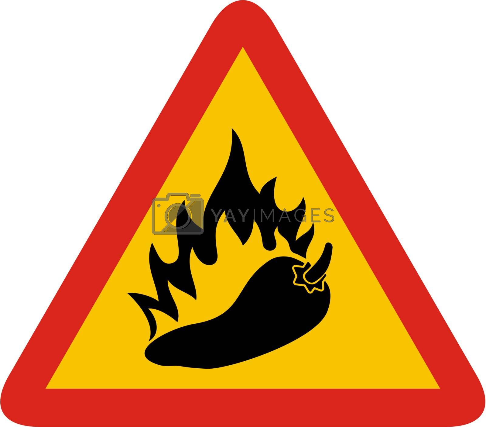 Hot pepper sign by sifis