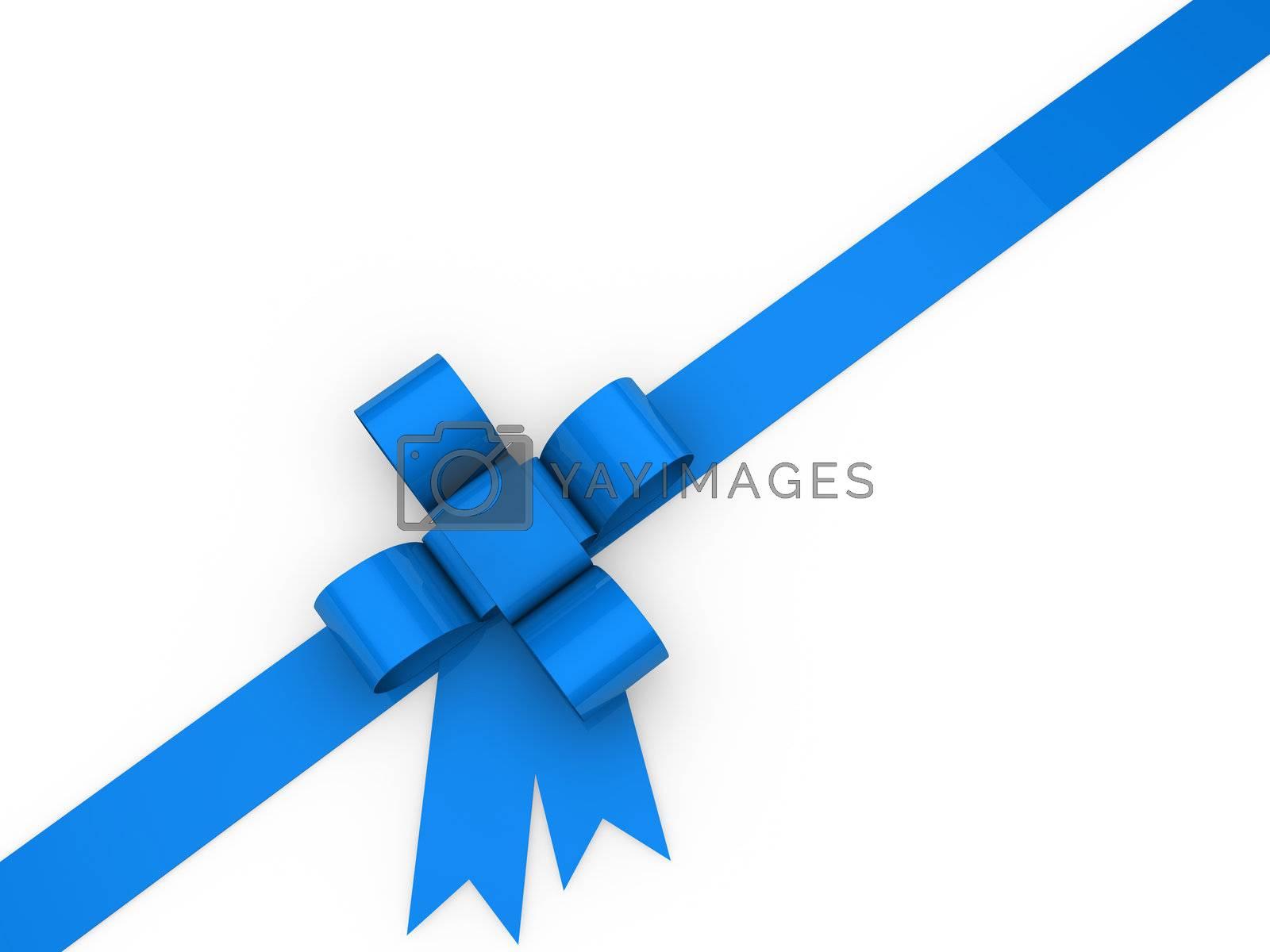 3d loop christmas blue birthday gift ribbon