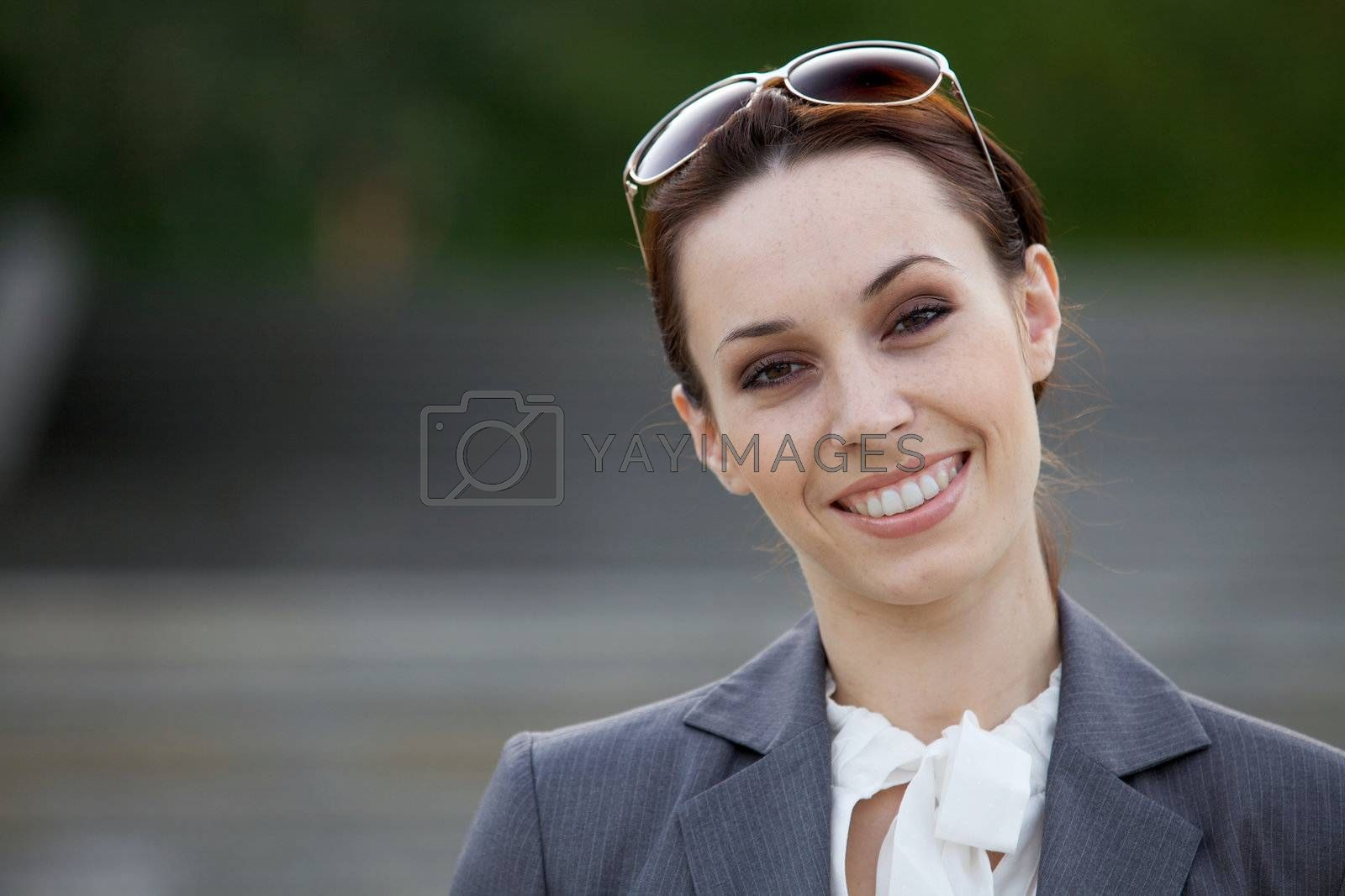 Portrait of a young businesswoman smiling