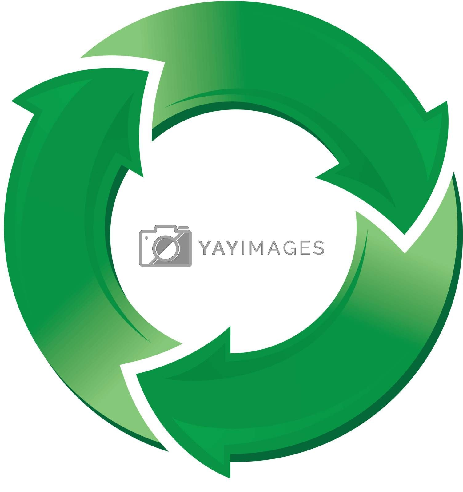 Vector illustration of the recycle symbol