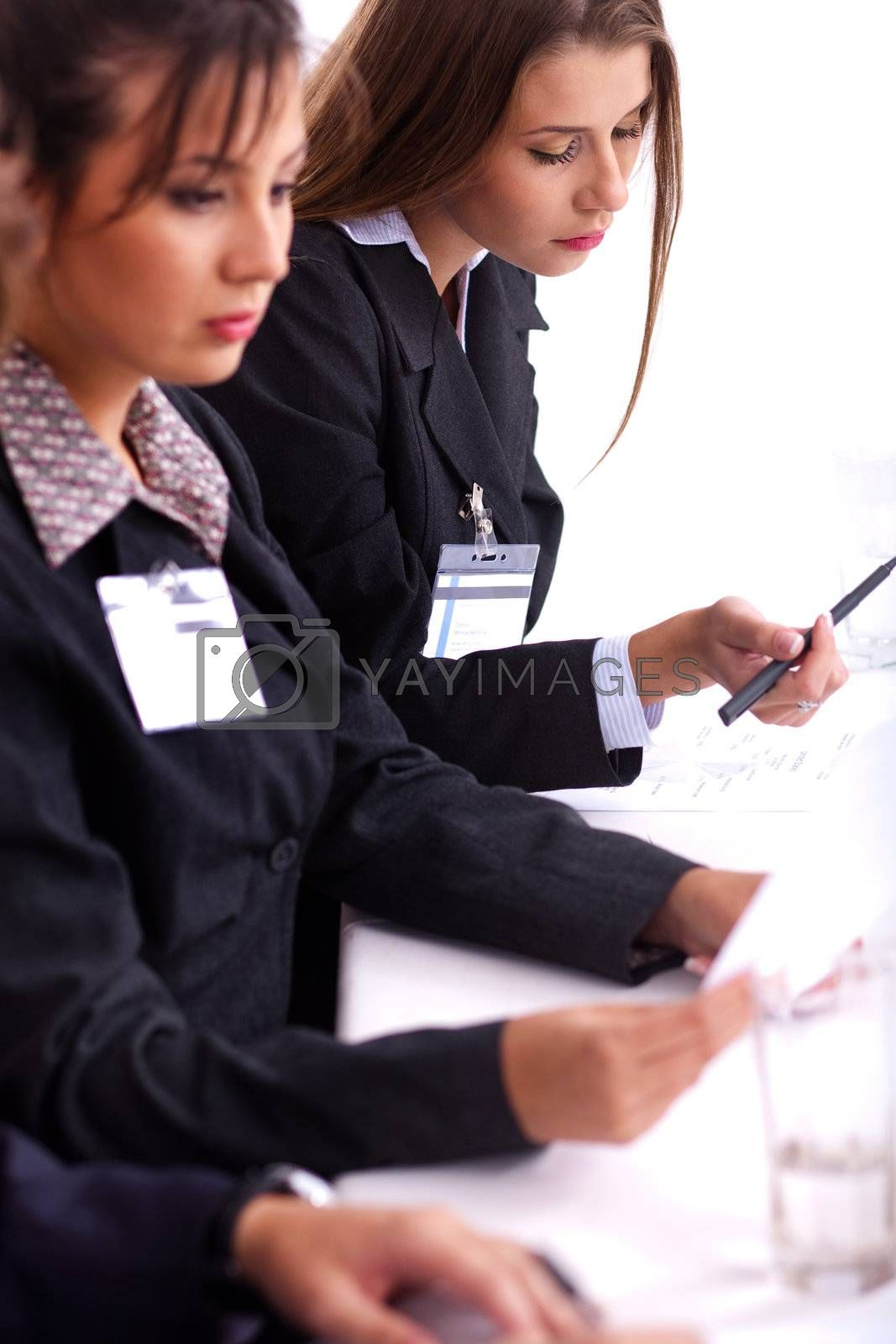 Portrait of a young businessteam at a meeting