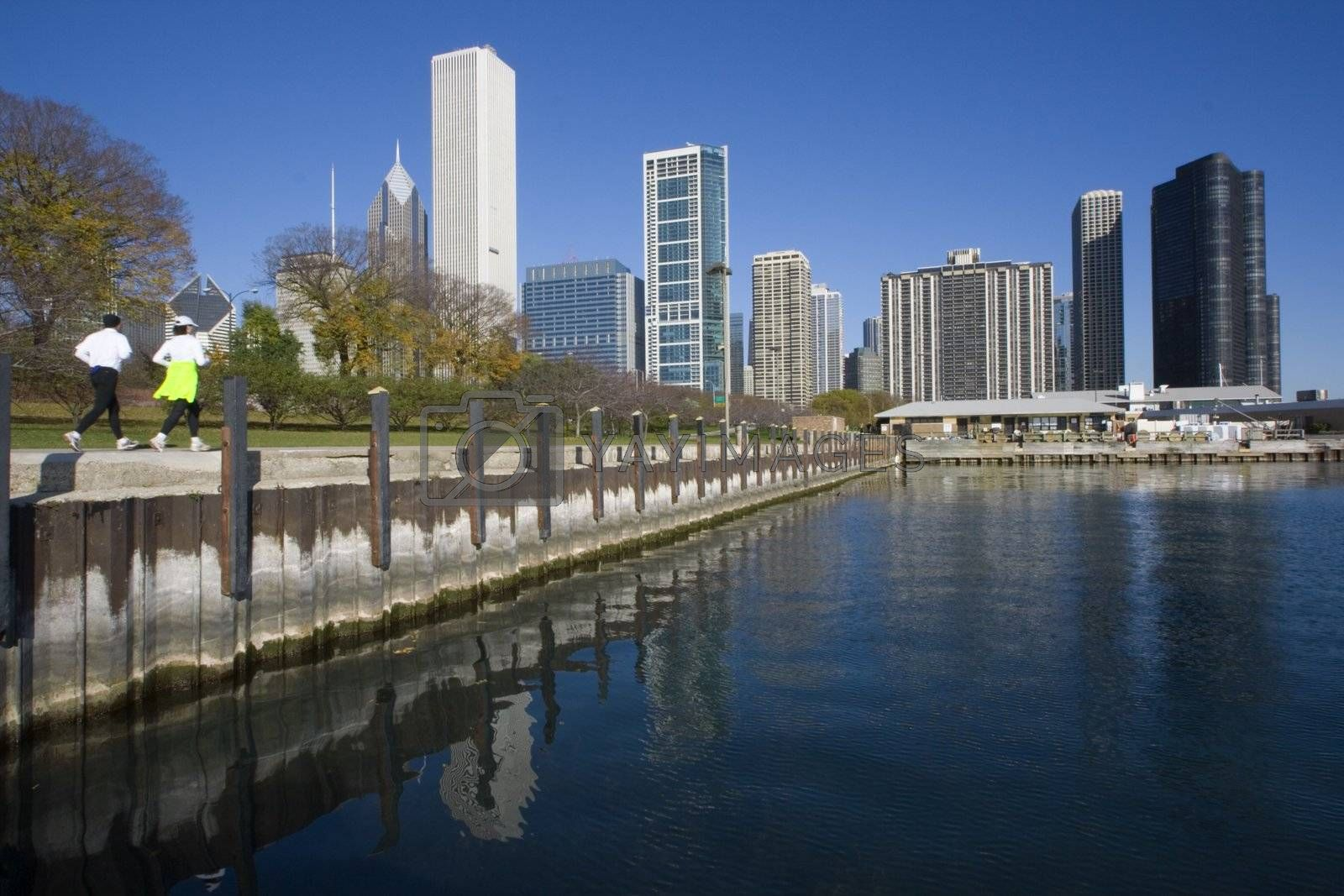 Morning Jogging in Chicago, Illinois.