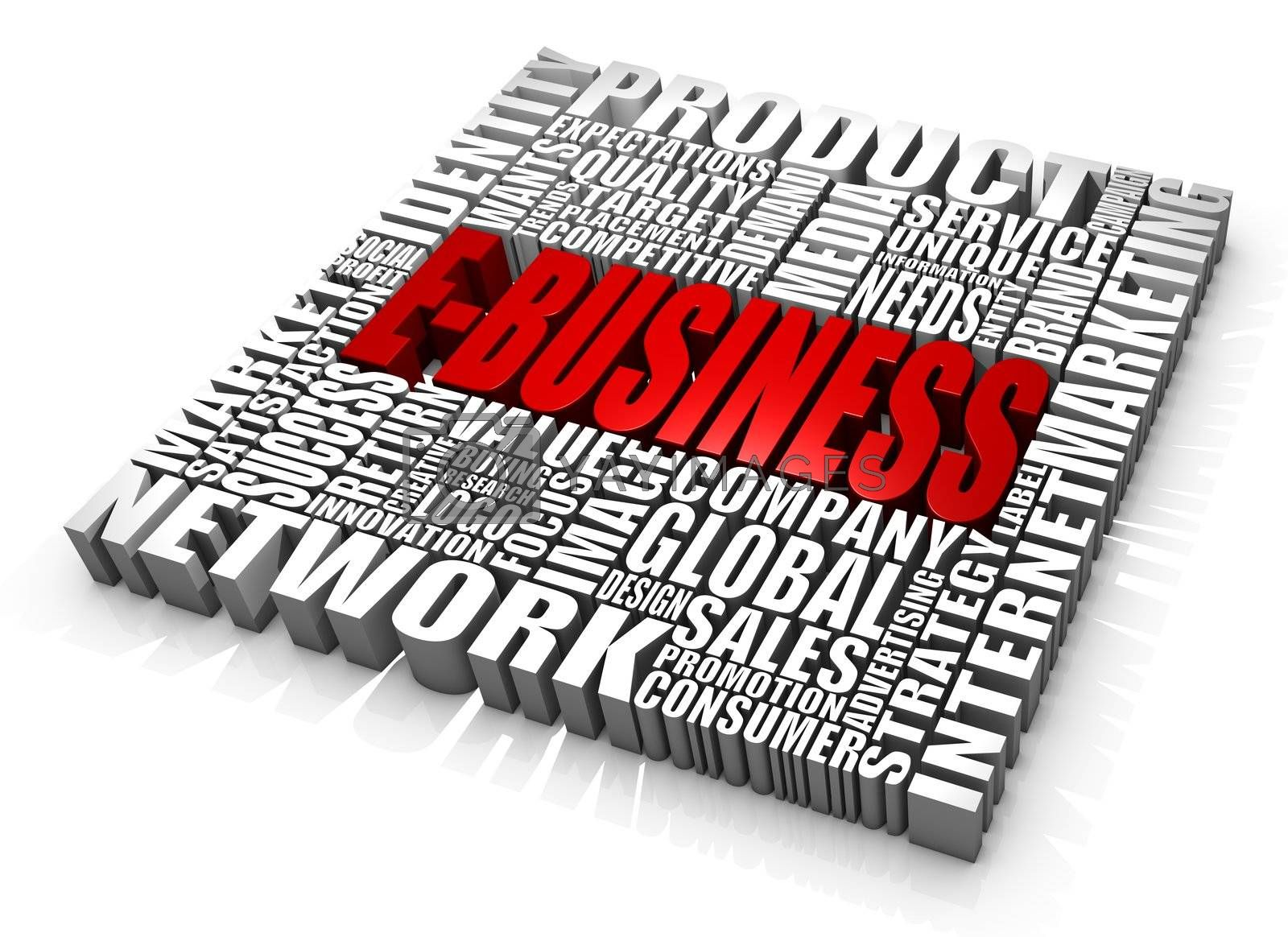Group of e-business related words. Part of a series of business concepts.