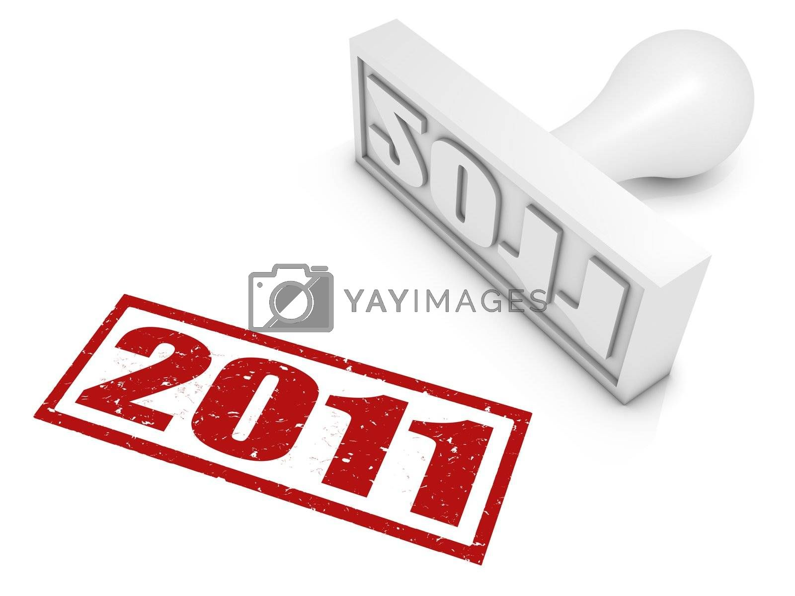 2011 rubber stamp. Part of a series of stamp concepts.