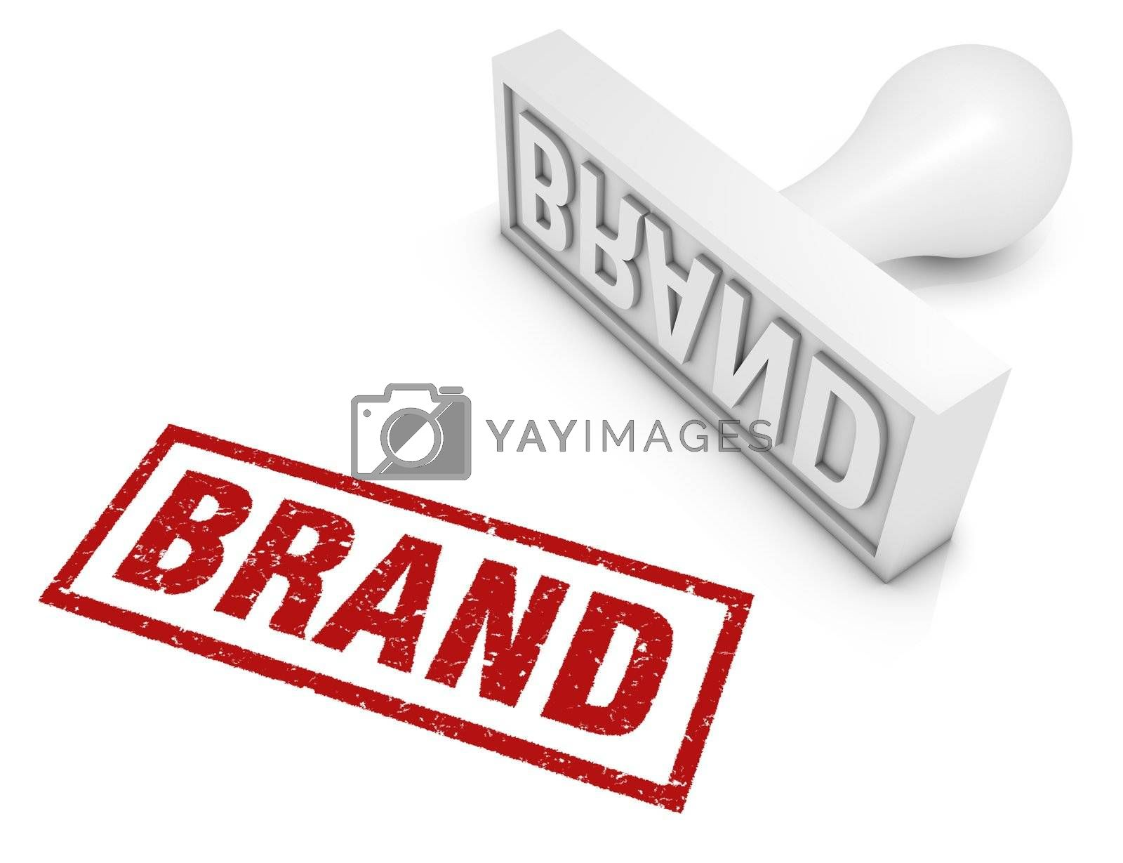 Brand rubber stamp. Part of a series of business concepts.