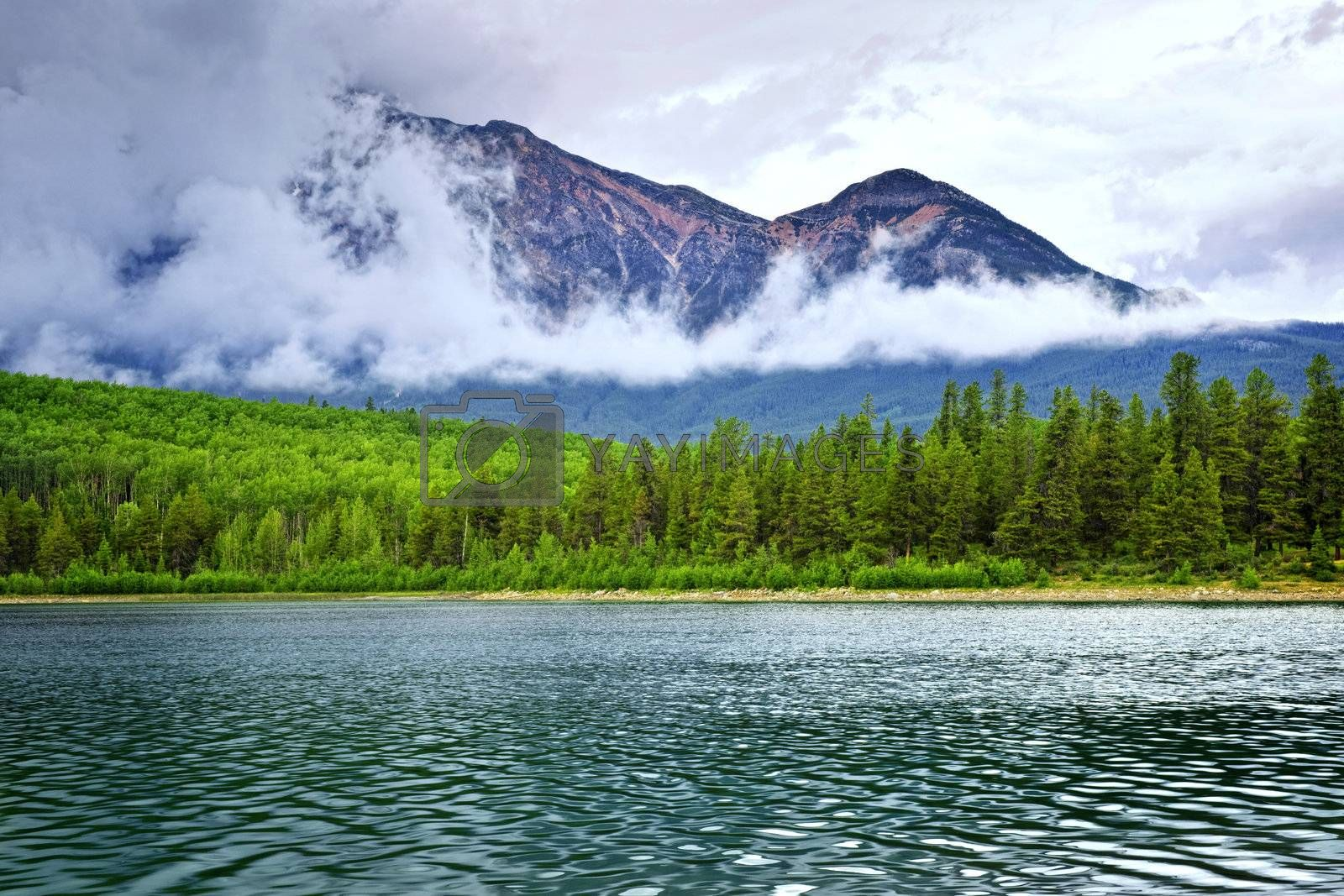 Patricia Lake and Pyramid Mountain in Jasper National Park, Canada