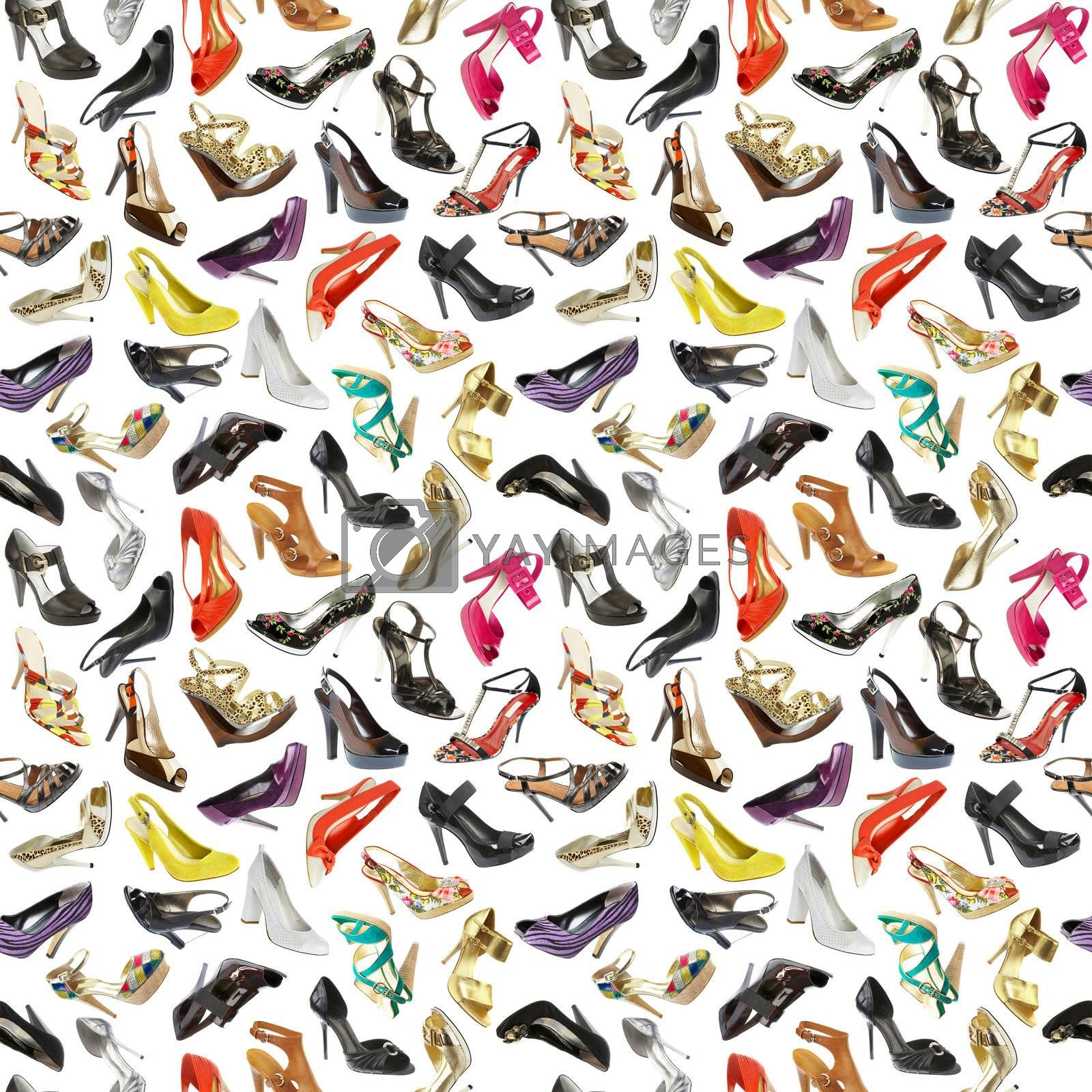 seamless  background from shoes by cookelma