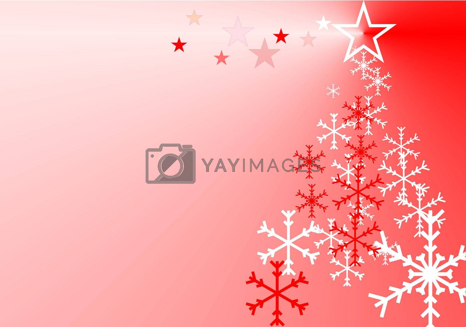 Christmas background for greeting card or wallpaper