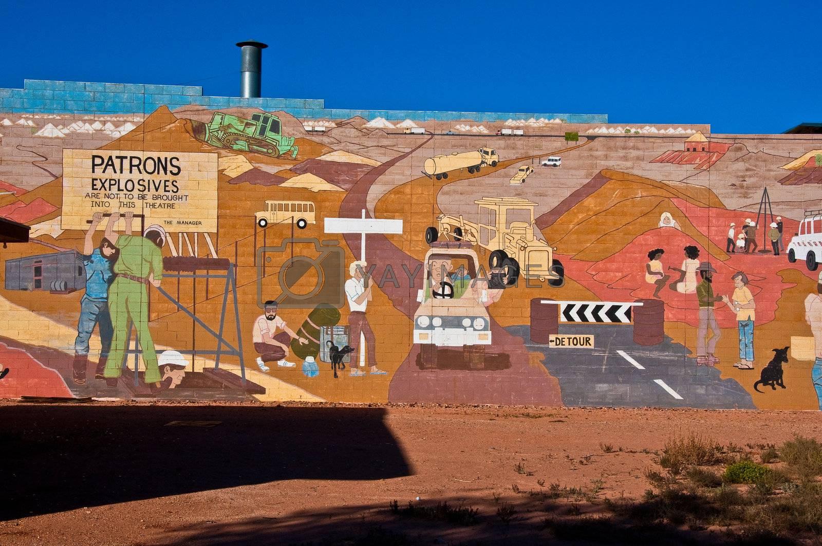 murales at Cooper Pedy, australia