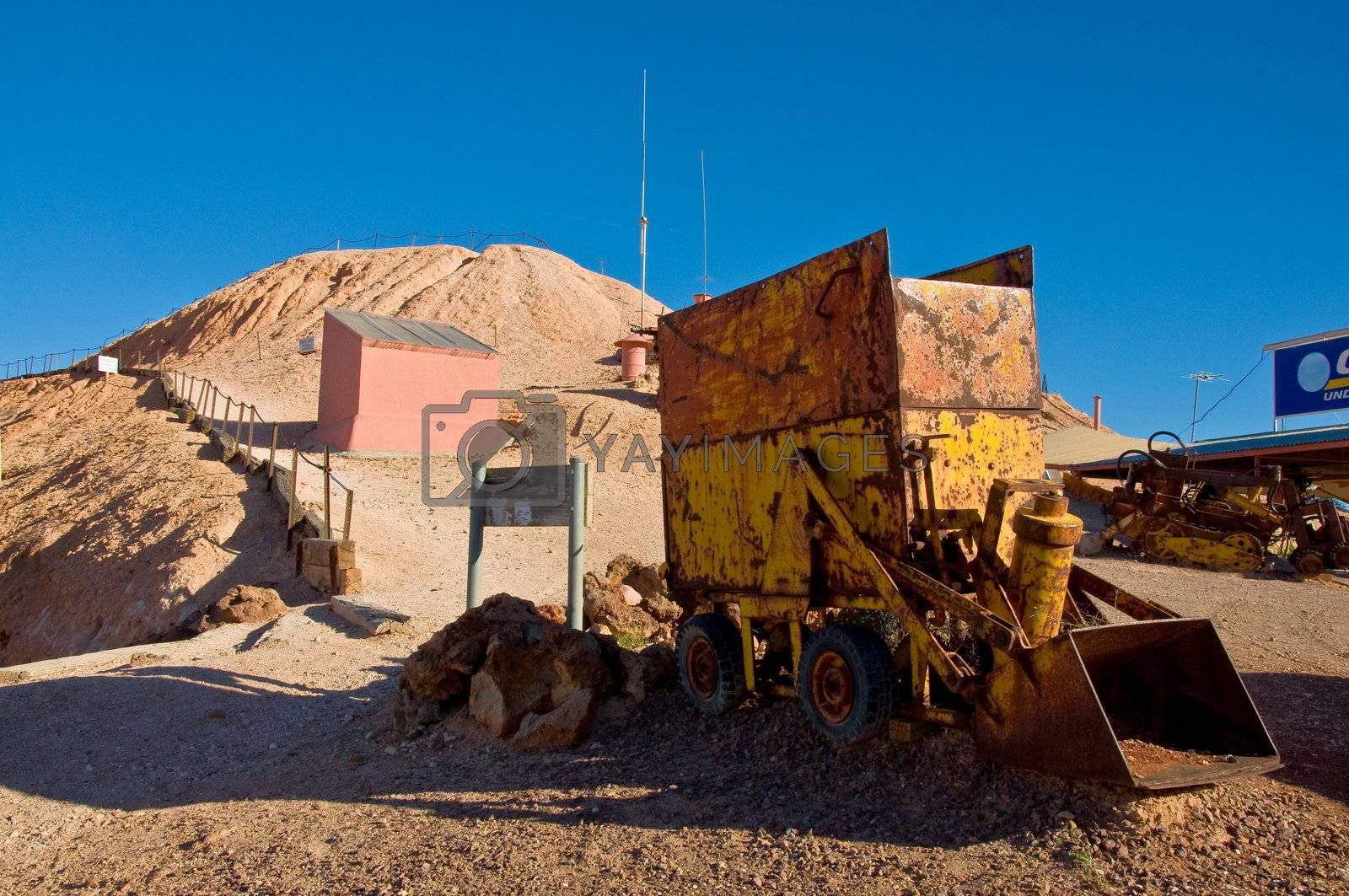 small city of coober pedy, outback australia