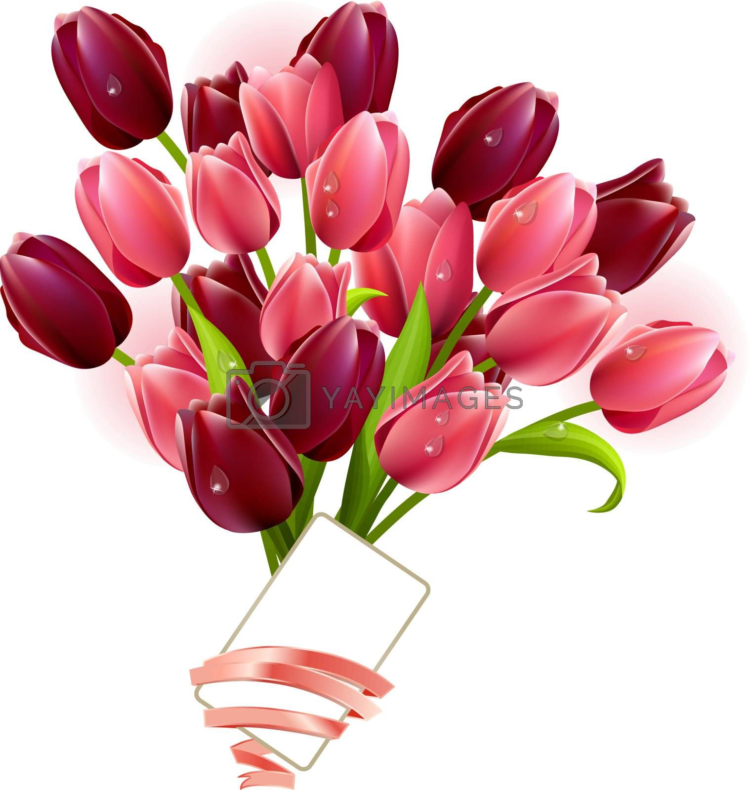 Bunch of tulips by nurrka