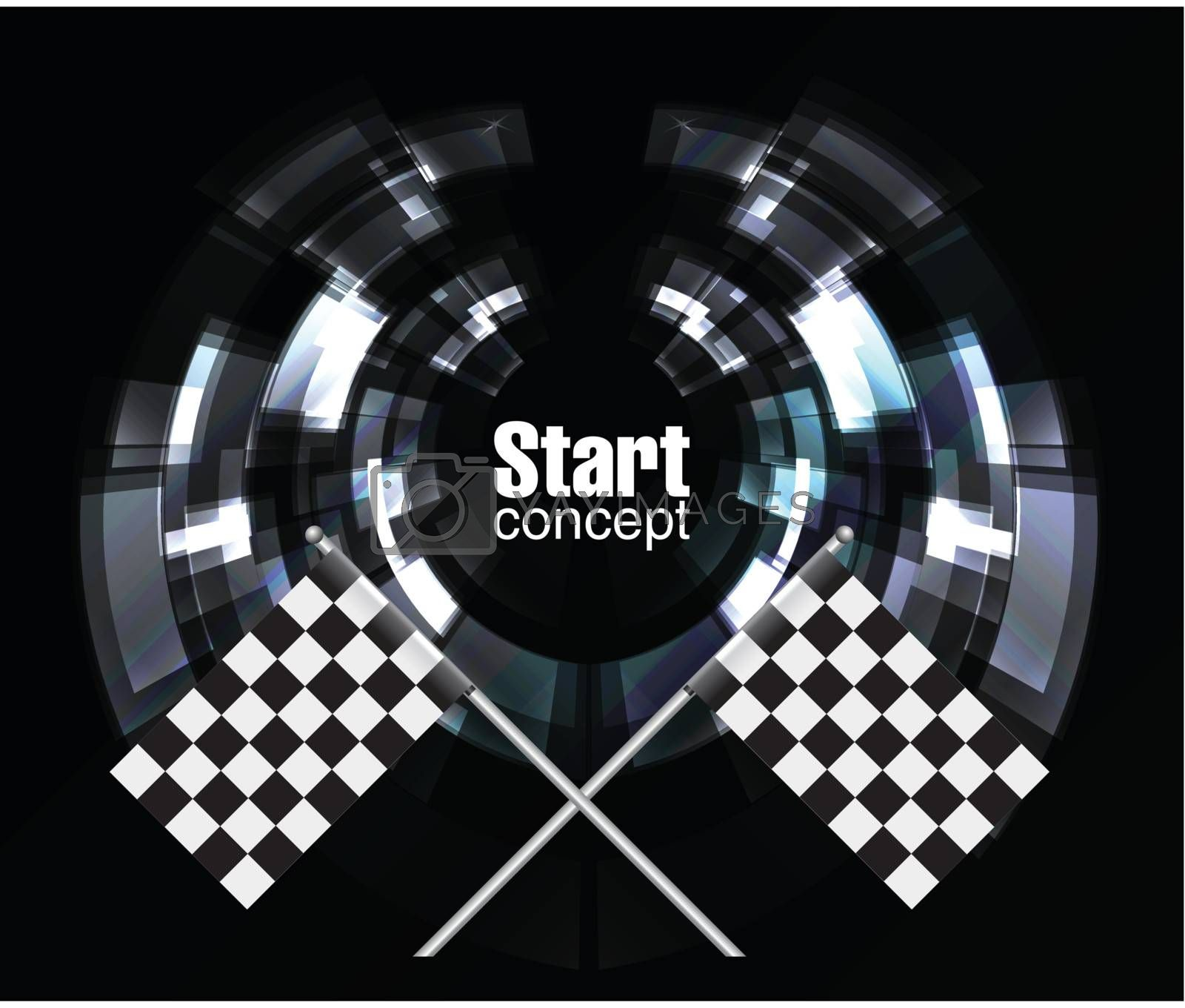 Checkered Background, eps10 on black. Vector illustration