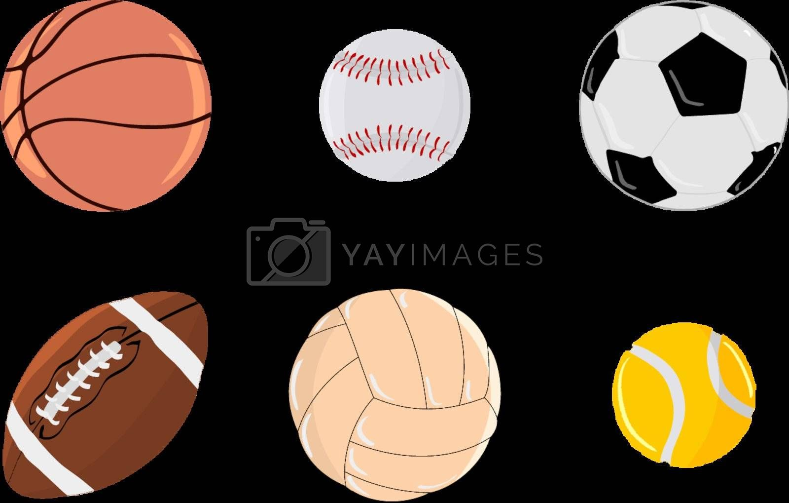 Royalty free image of Set of balls by Perysty