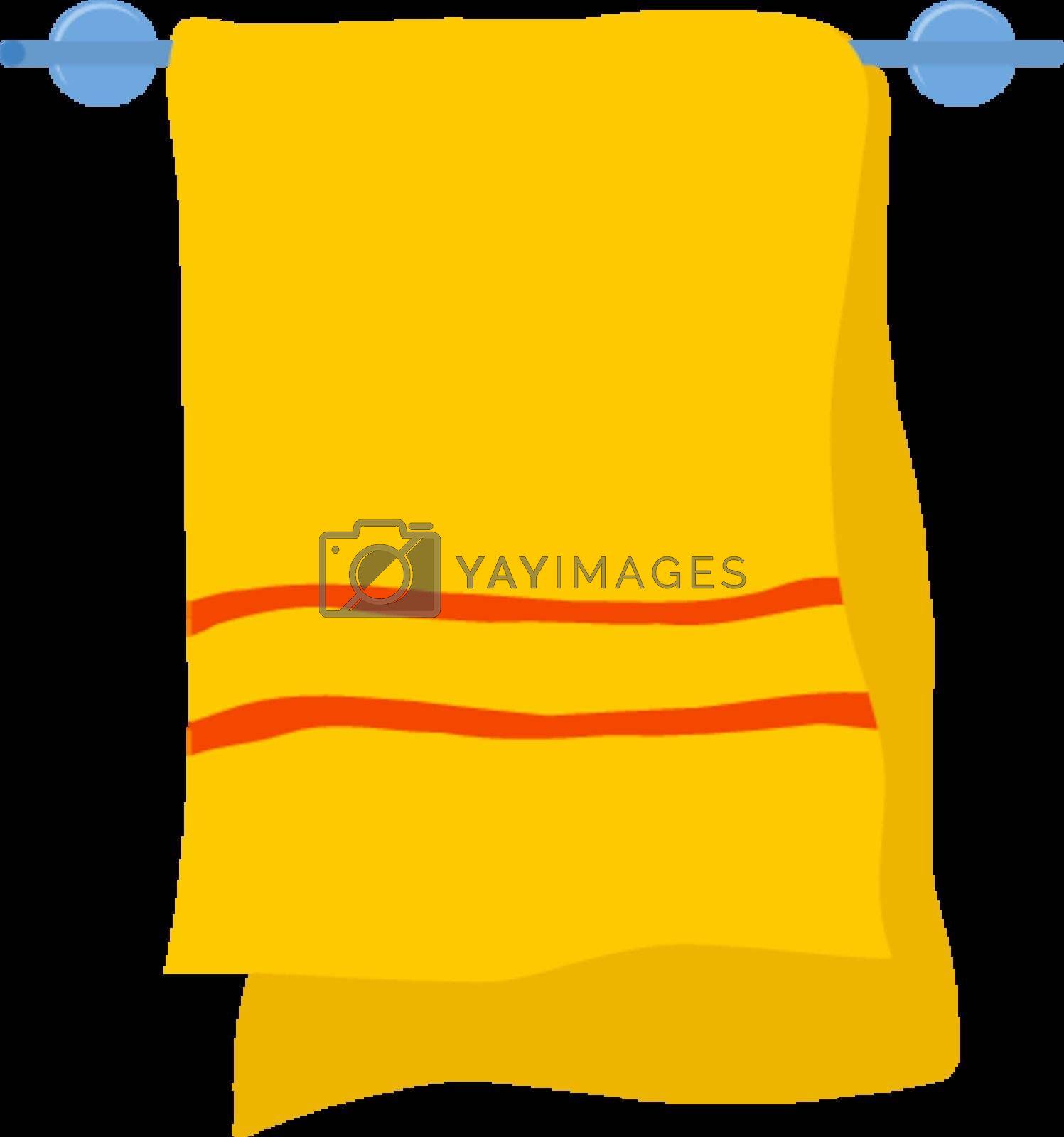 Royalty free image of Towel on a hanger by Perysty