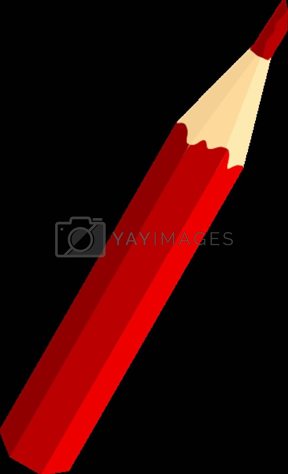 Royalty free image of red pencil by Perysty