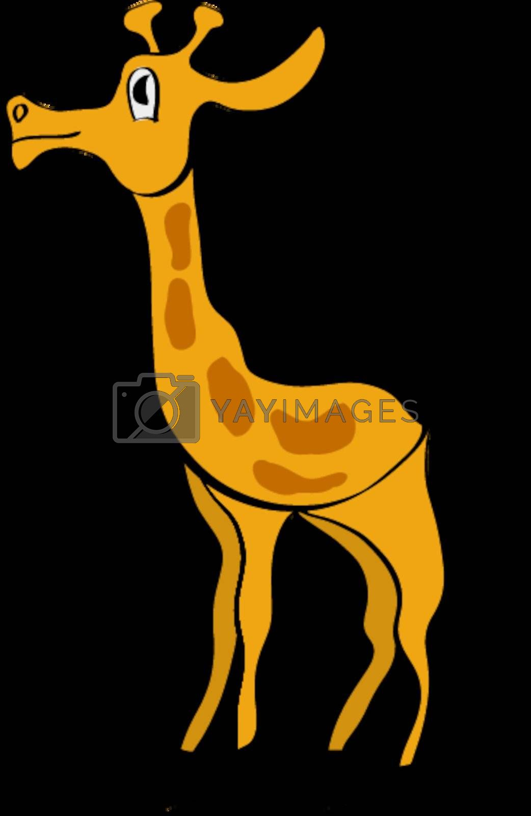 Royalty free image of Cartoon illustration of giraffe by Perysty
