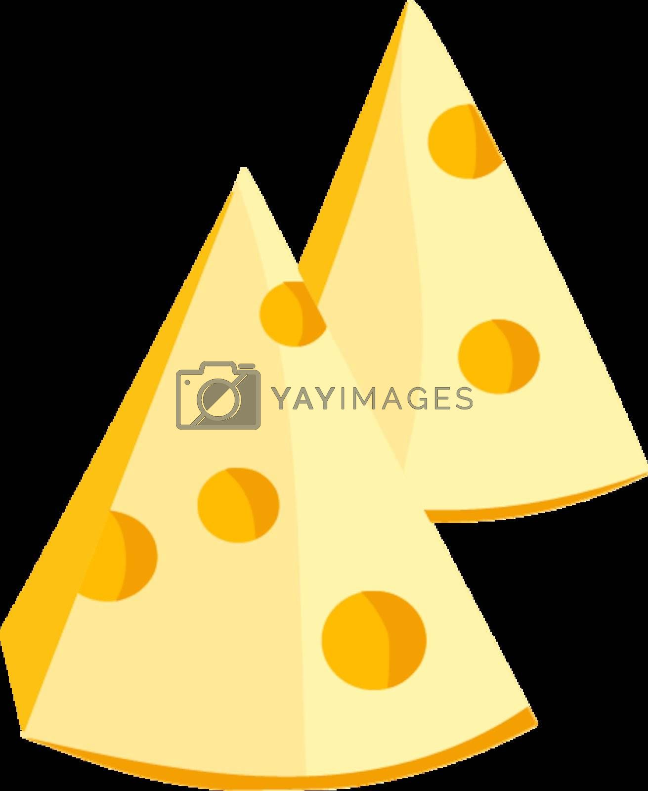 Royalty free image of Pieces of cheese by Perysty