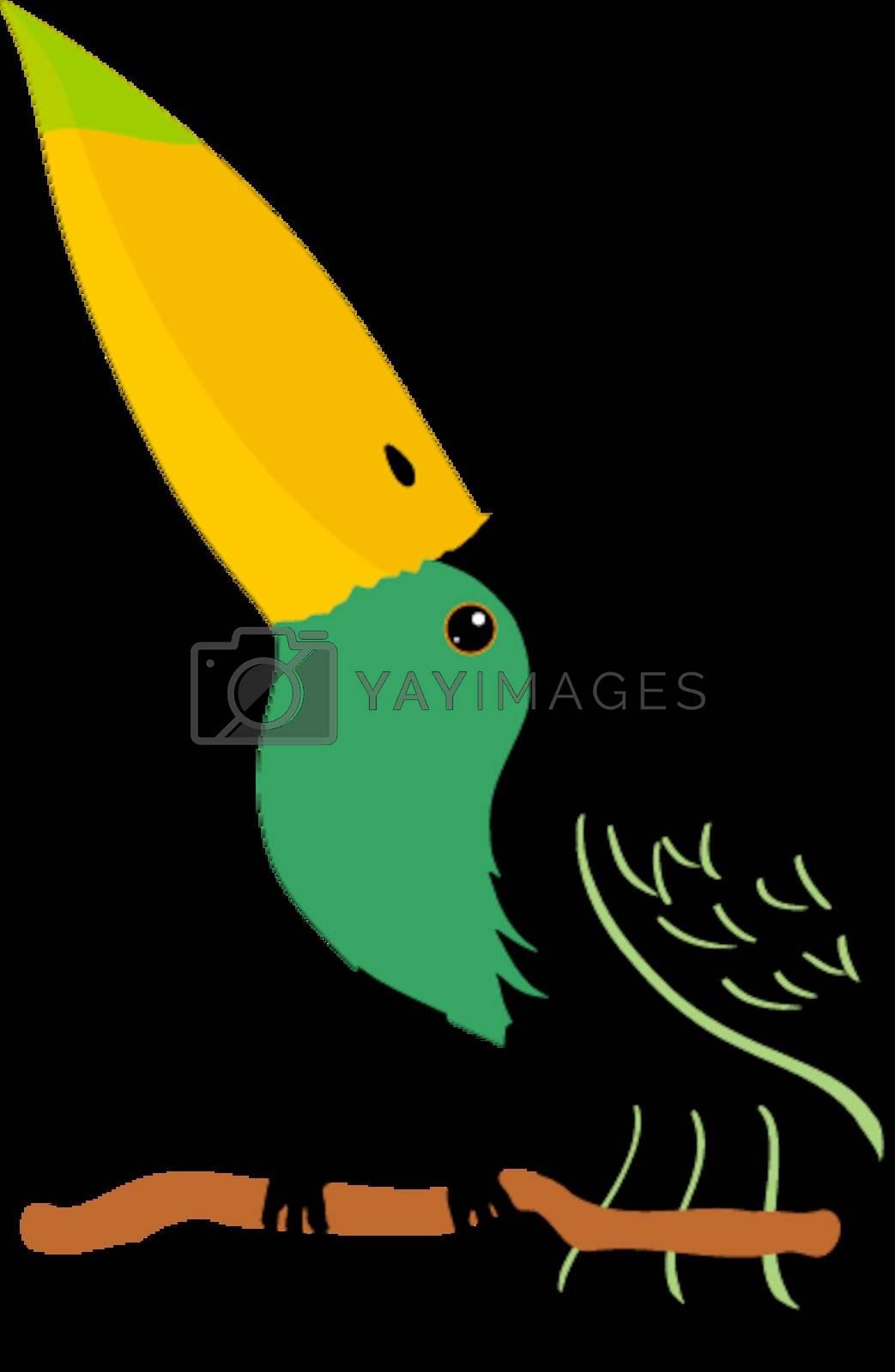 Illustration of cartoon toucan