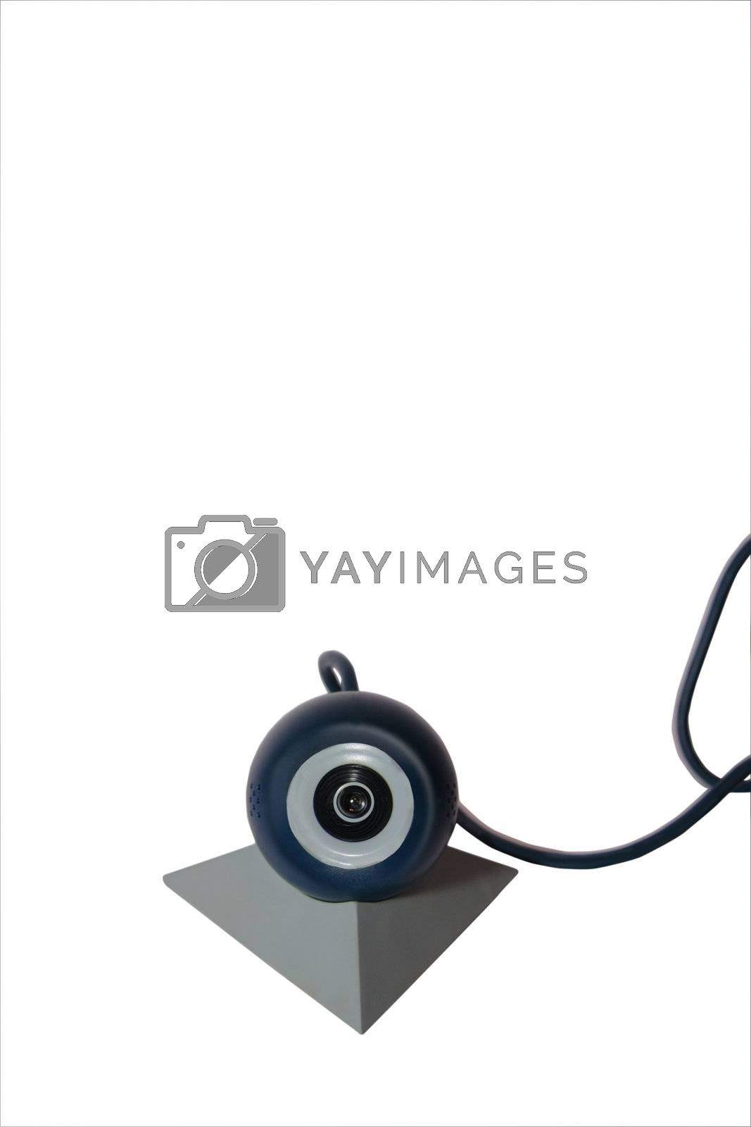 a web camera with connection ( with a clipping path )