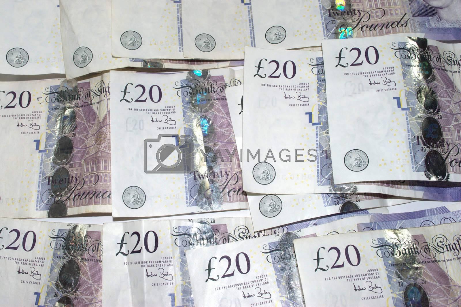 Load of twenty pound notes