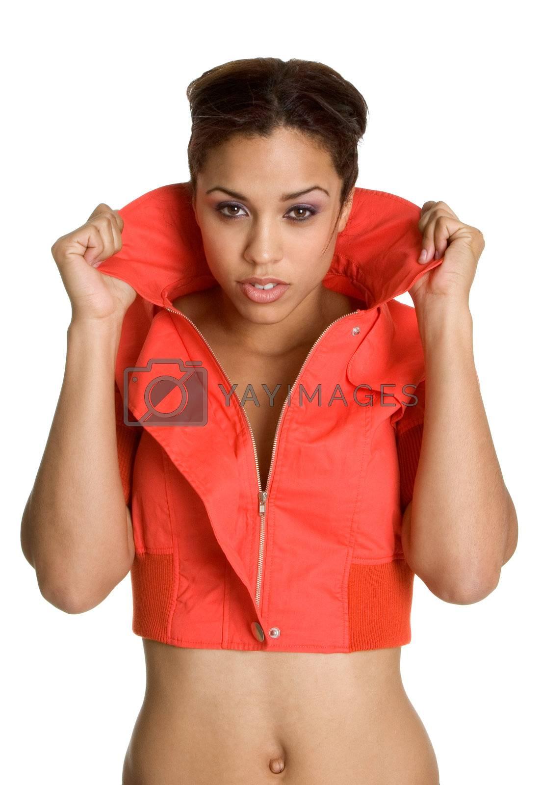Beautiful cool african american woman