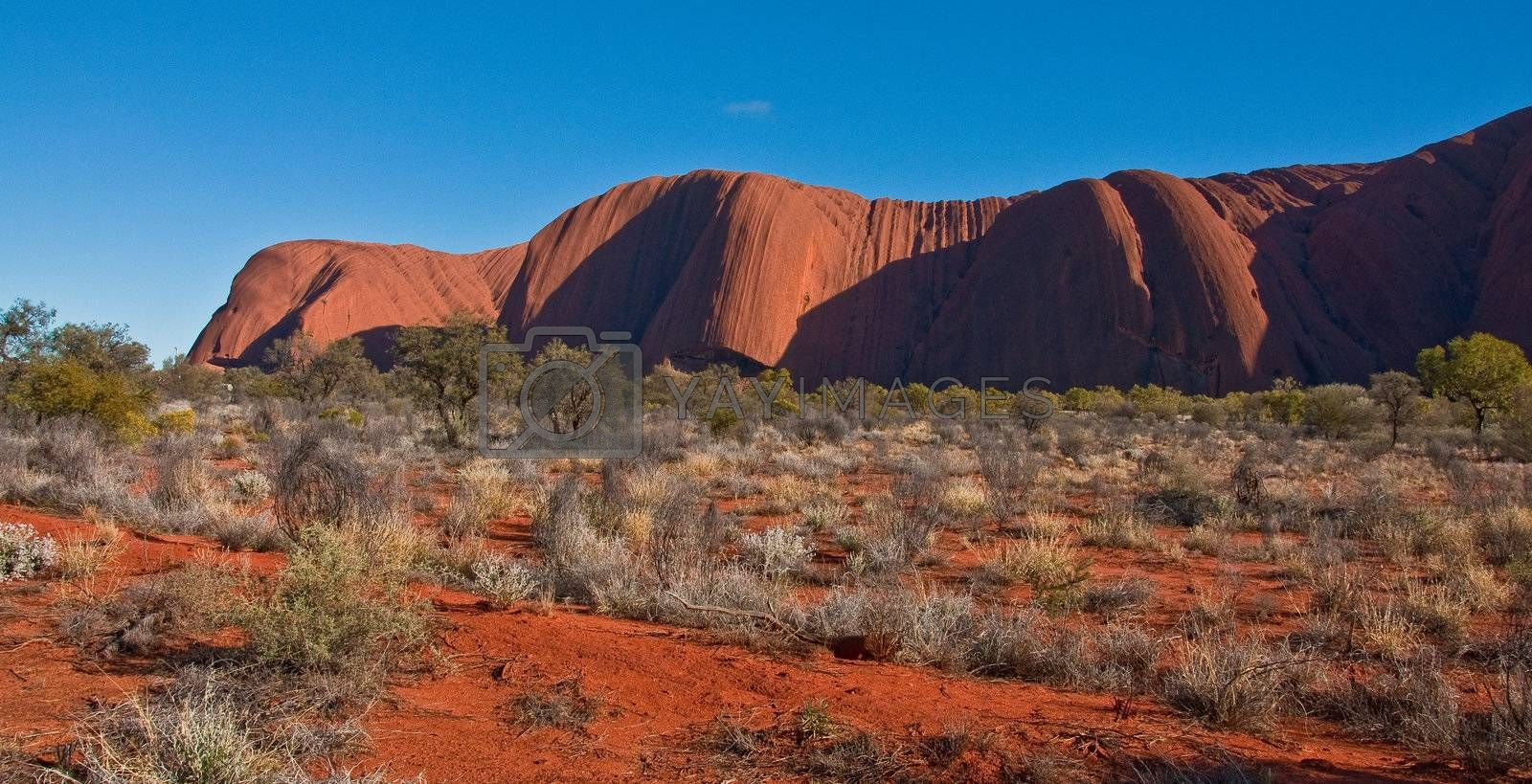 view of Ayers Rock, outback australia Northern Territory