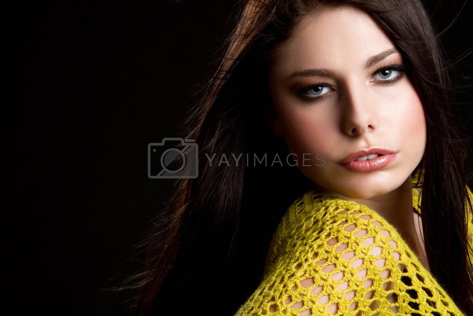Pretty young fashion model woman