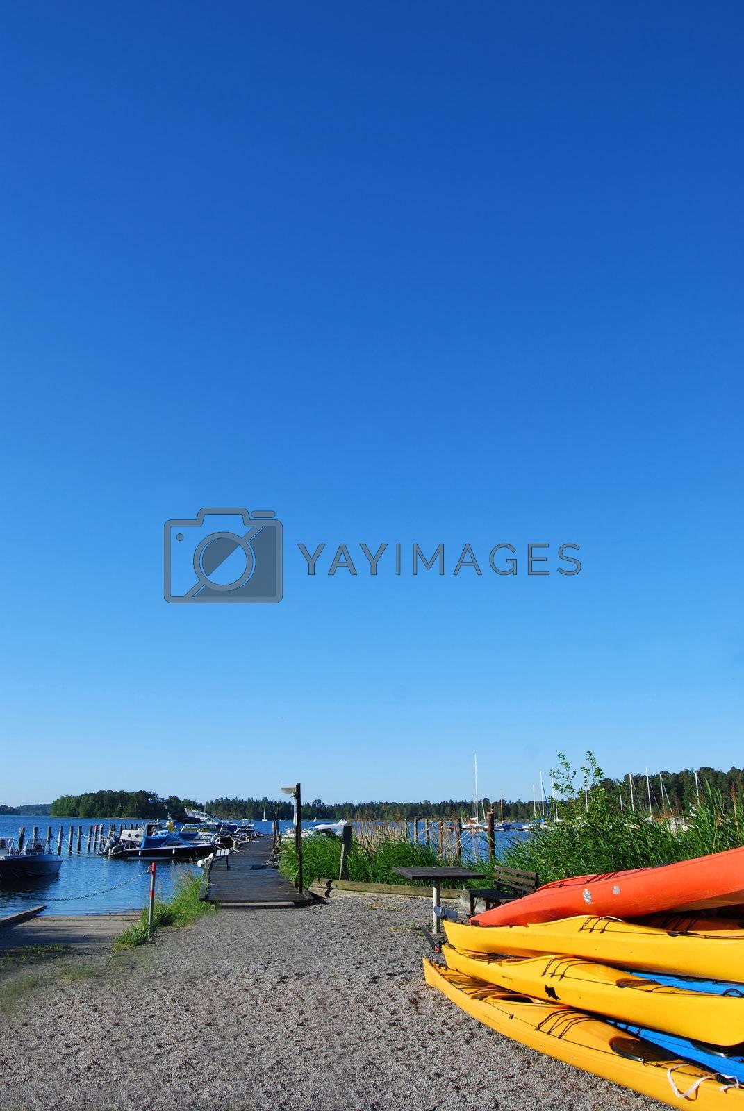 Summer in the scandinavian archipelago