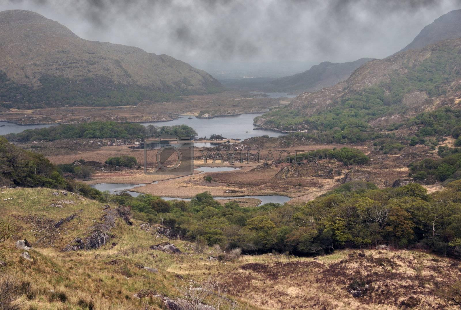 scenic view of a killarney lake